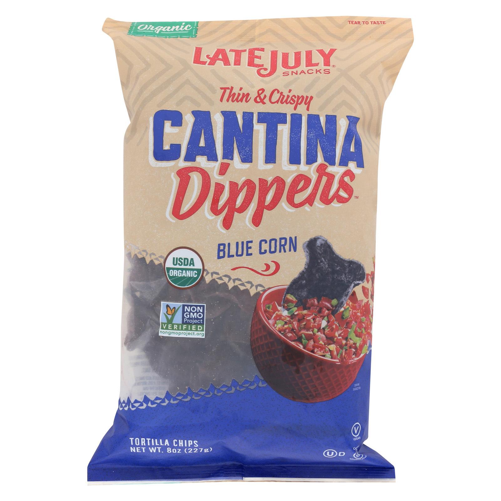 Late July Snacks Multigrain Chips - Blue Corn - Case of 9 - 8 oz