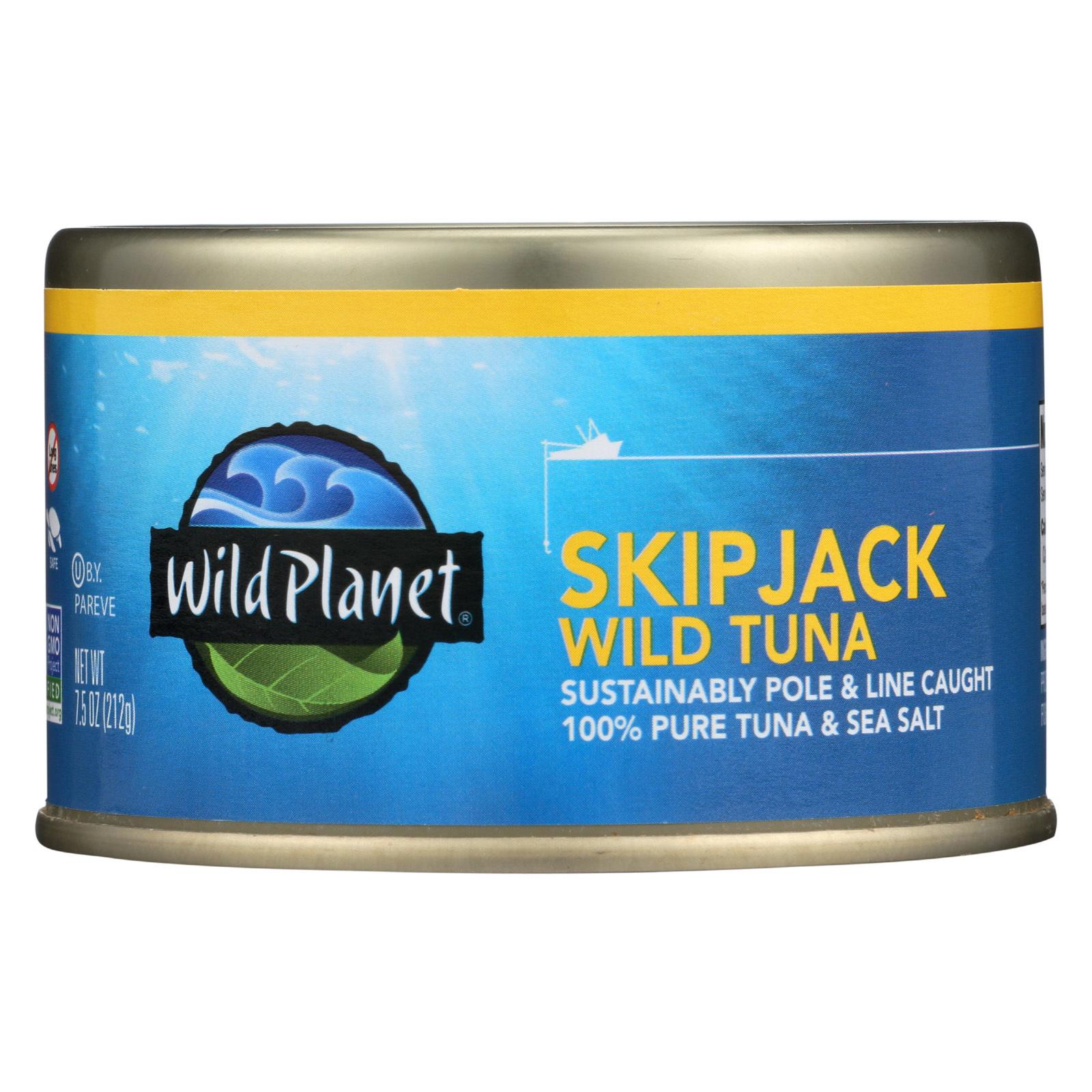 Wild Planet Wild Tuna - Skipjack - Case of 12 - 7.5 oz
