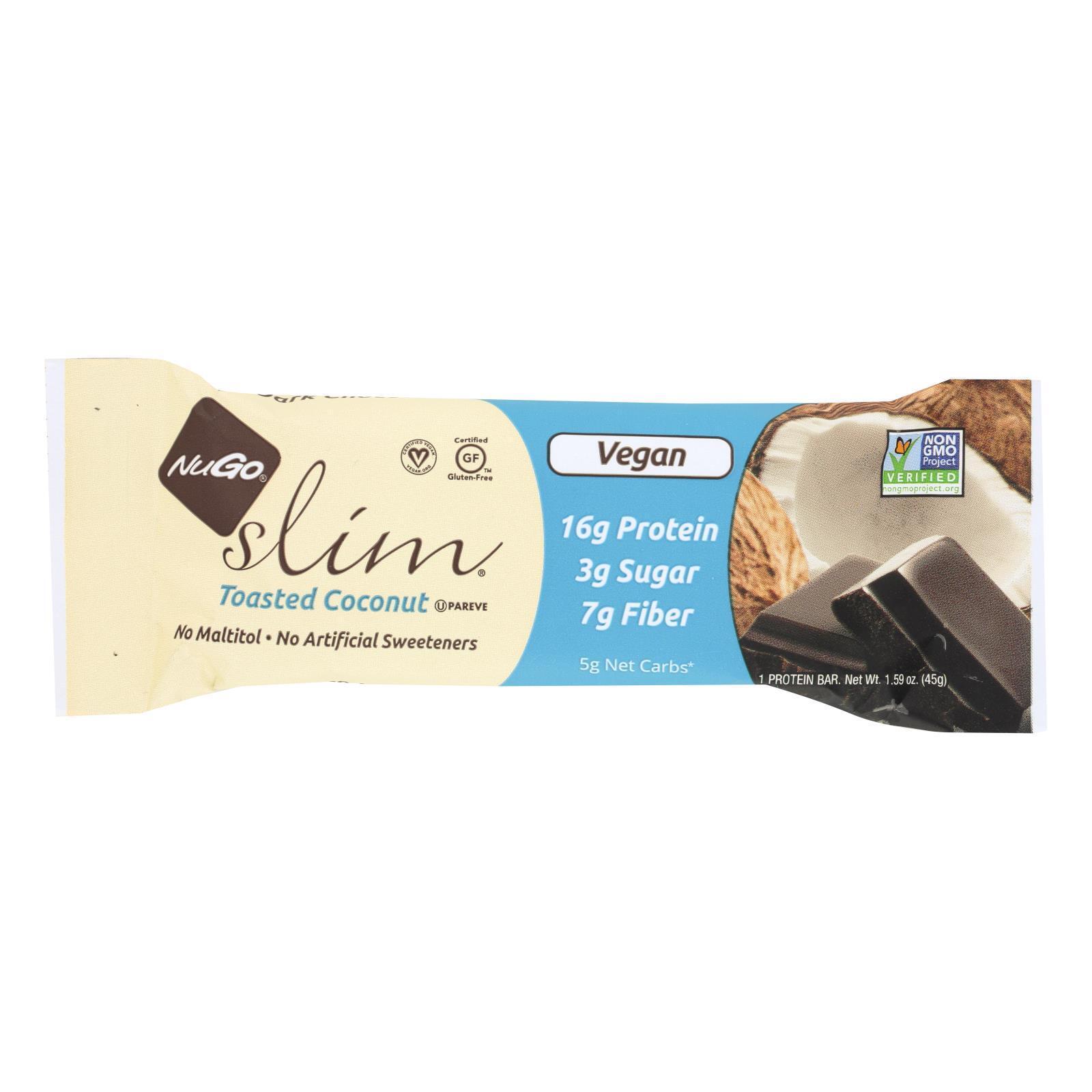 Nugo Nutrition Bar Nugo Slim Bar - Toasted Coconut - Case of 12 - 1.59 oz
