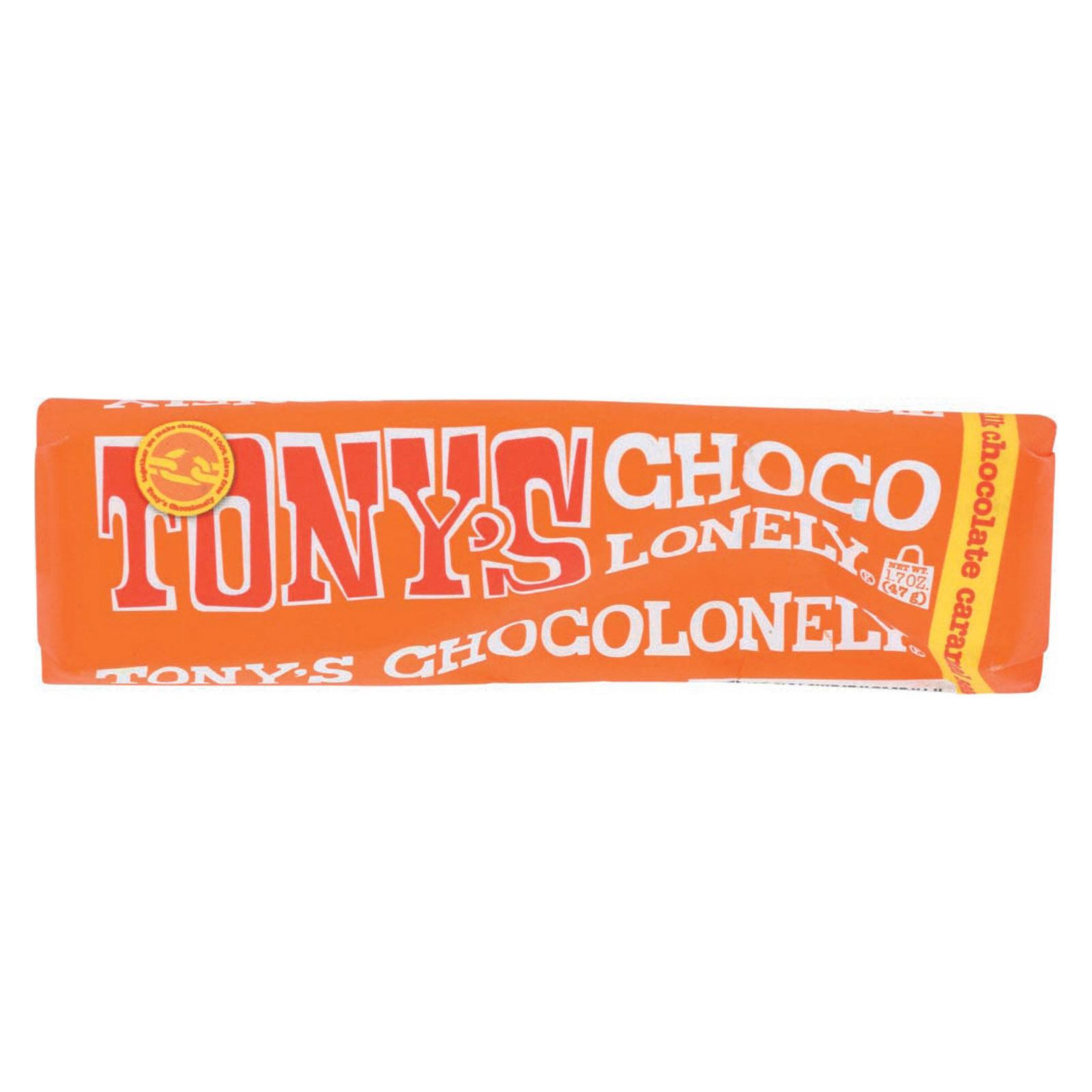 Tony's Chocolonely Bar - Milk Chocolate Caramel Sea Salt - Case of 35 - 1.7 oz.