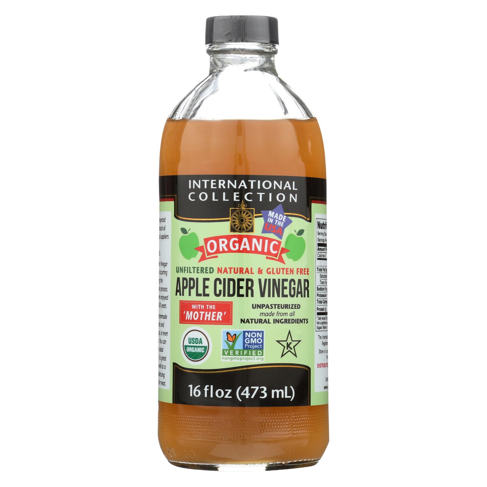 International Collection Organic Vinegar - Apple Cider - Case of 6 - 16 fl oz