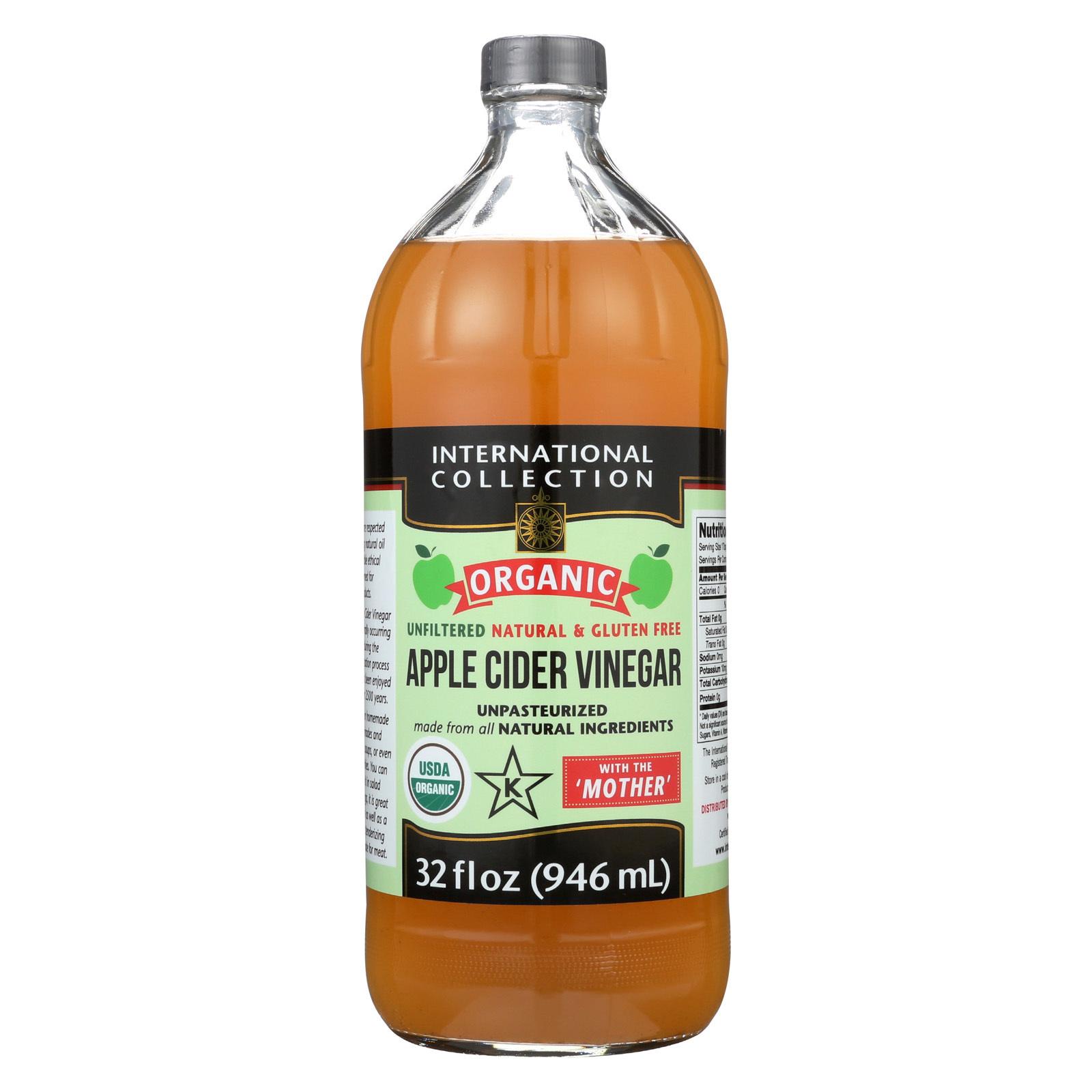 International Collection Vinegar - Organic - Apple Cider - Case of 6 - 32 fl oz