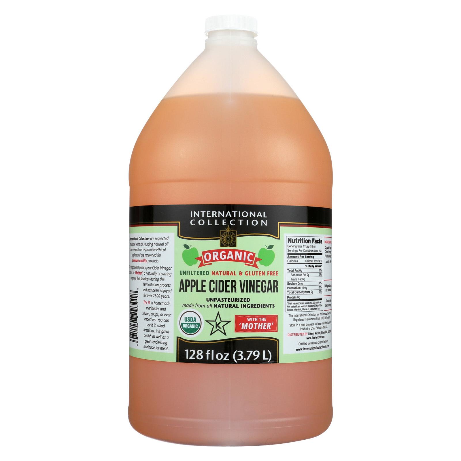International Collection Vinegar - Organic - Apple Cider - Case of 4 - 128 fl oz