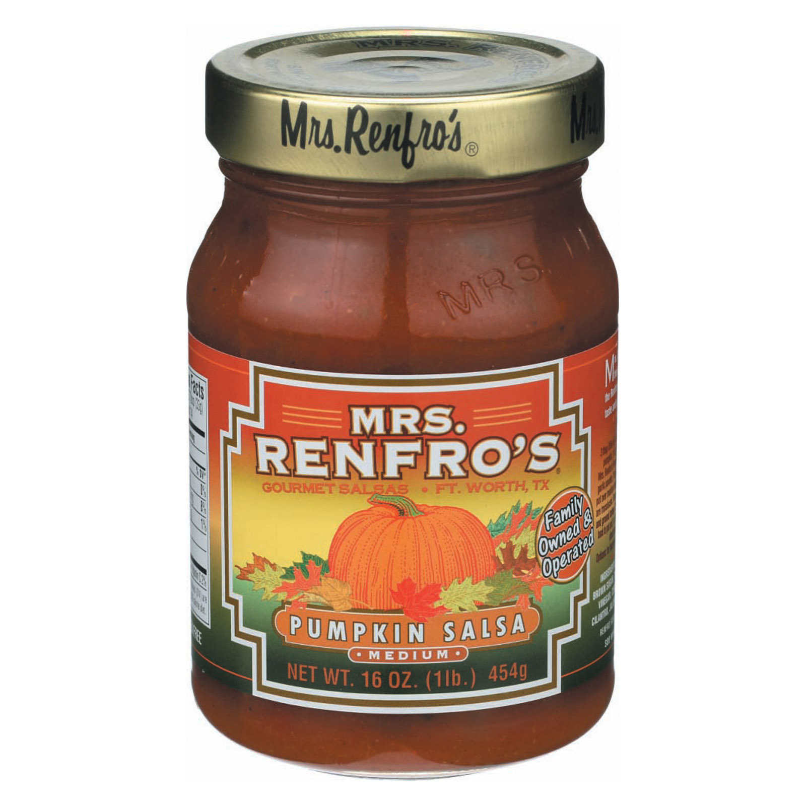Mrs. Renfro's Salsa - Medium - Case of 6 - 16 oz