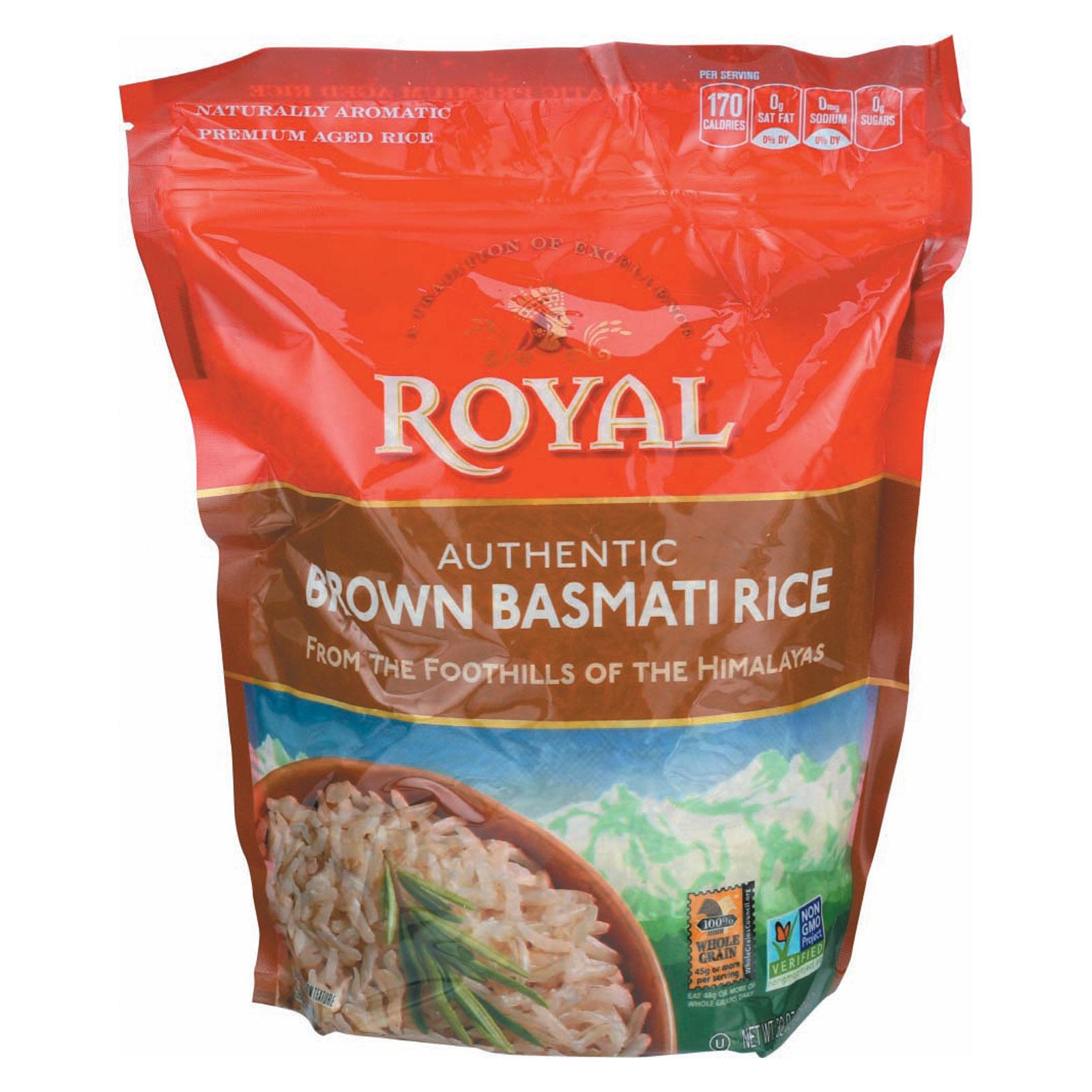 Royal Crest Lifestyle Rice - Basmati - Brown - Case of 6 - 32 oz