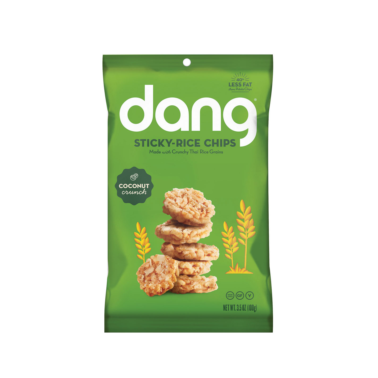 Dang Rice Chip - Coconut - Case of 12 - 3.50 oz