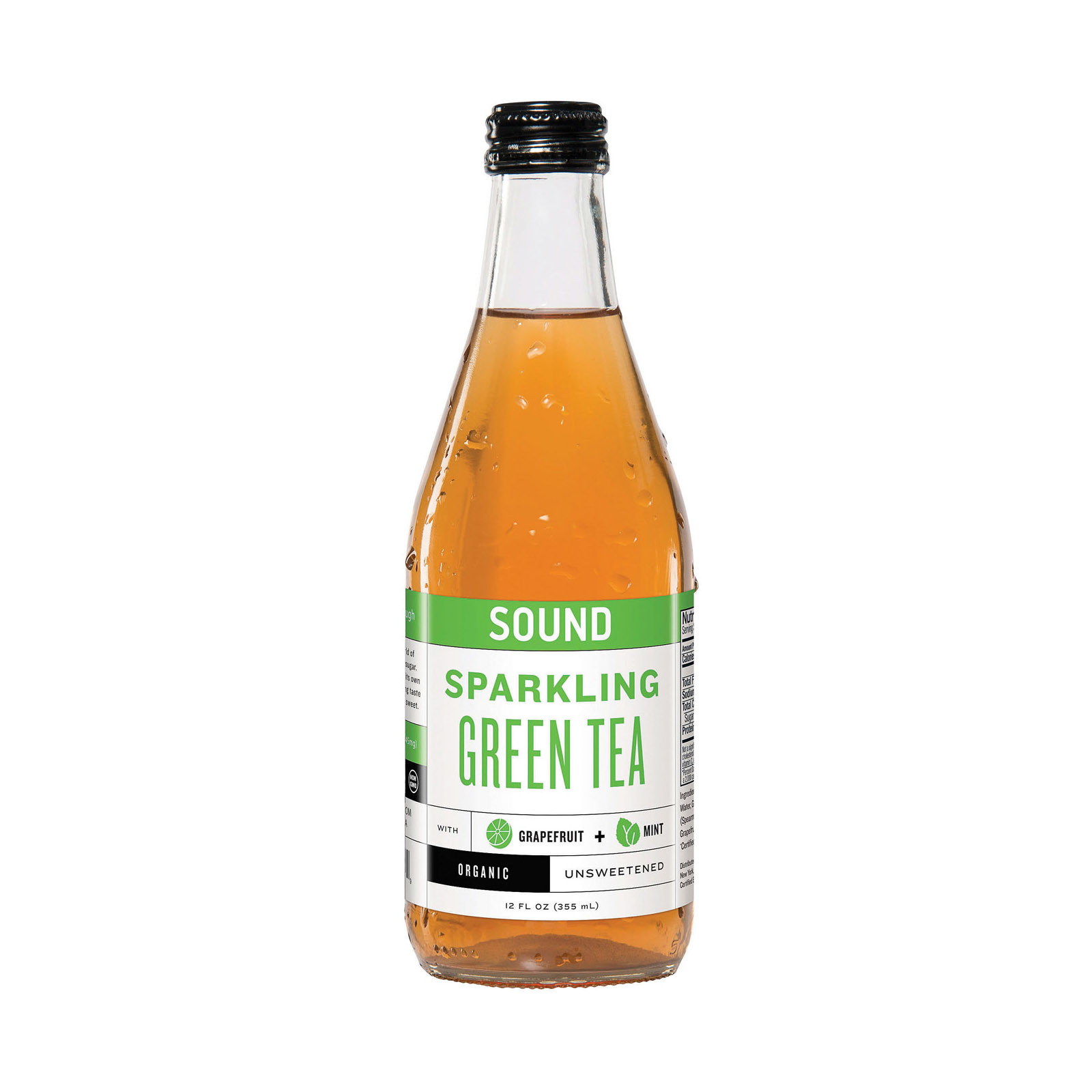 Sound Sparkling Tea Tea - Organic - Sparkling - Green Tea - Case of 12 - 12 fl oz