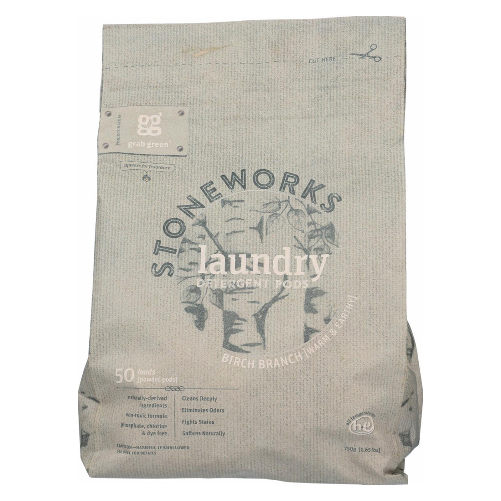 Stoneworks Laundry Detergent Pods - Birch Branch - Case of 6 - 50 count