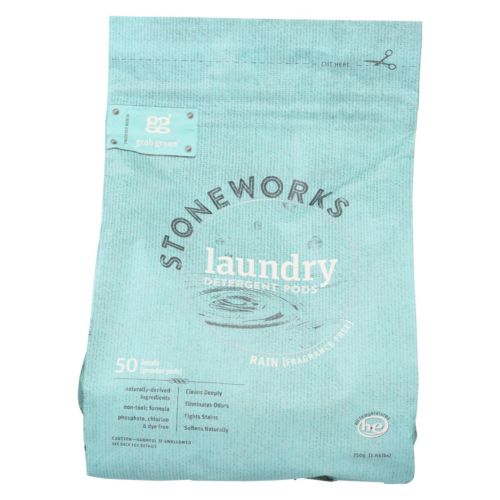 Stoneworks Laundry Detergent Pods - Rain - Case of 6 - 50 count