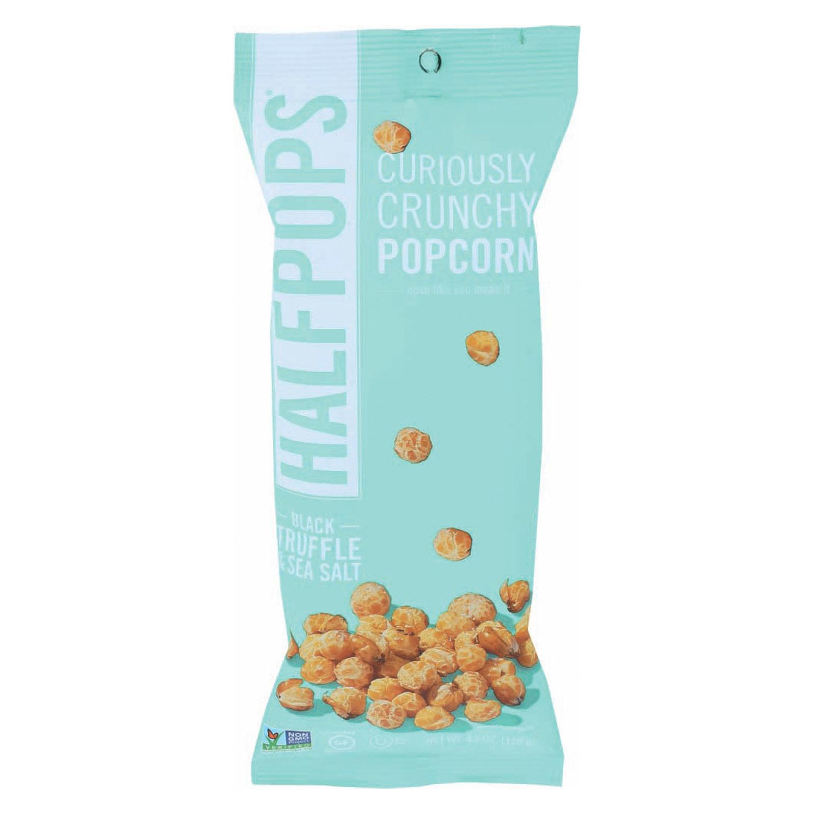 Halfpops Popcorn - Black Truffle & Sea Salt - Case of 12 - 4.5 oz