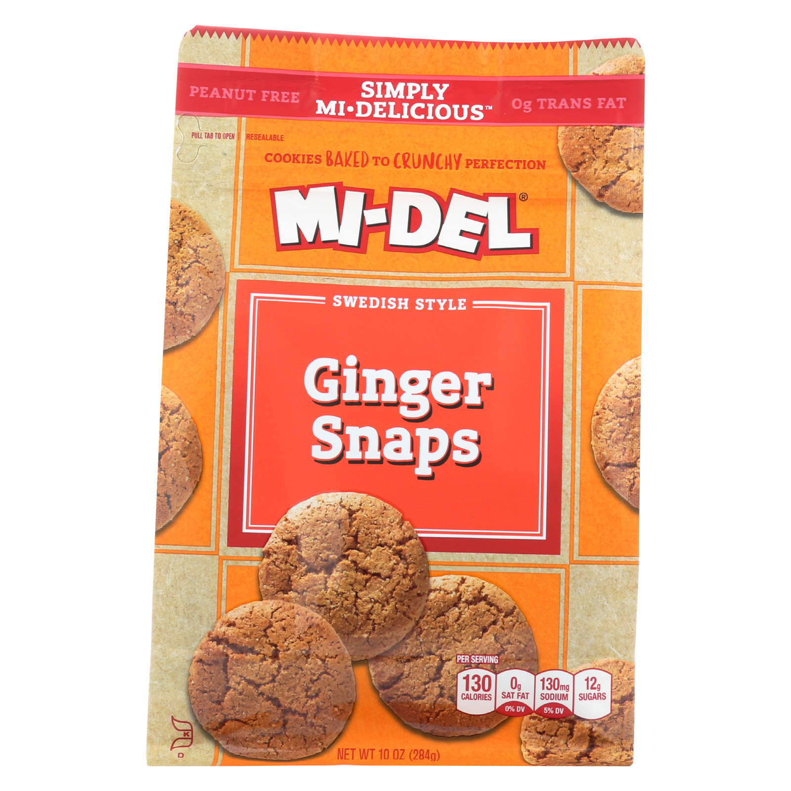 Midel Cookies - Ginger Snaps - Case of 8 - 10 oz