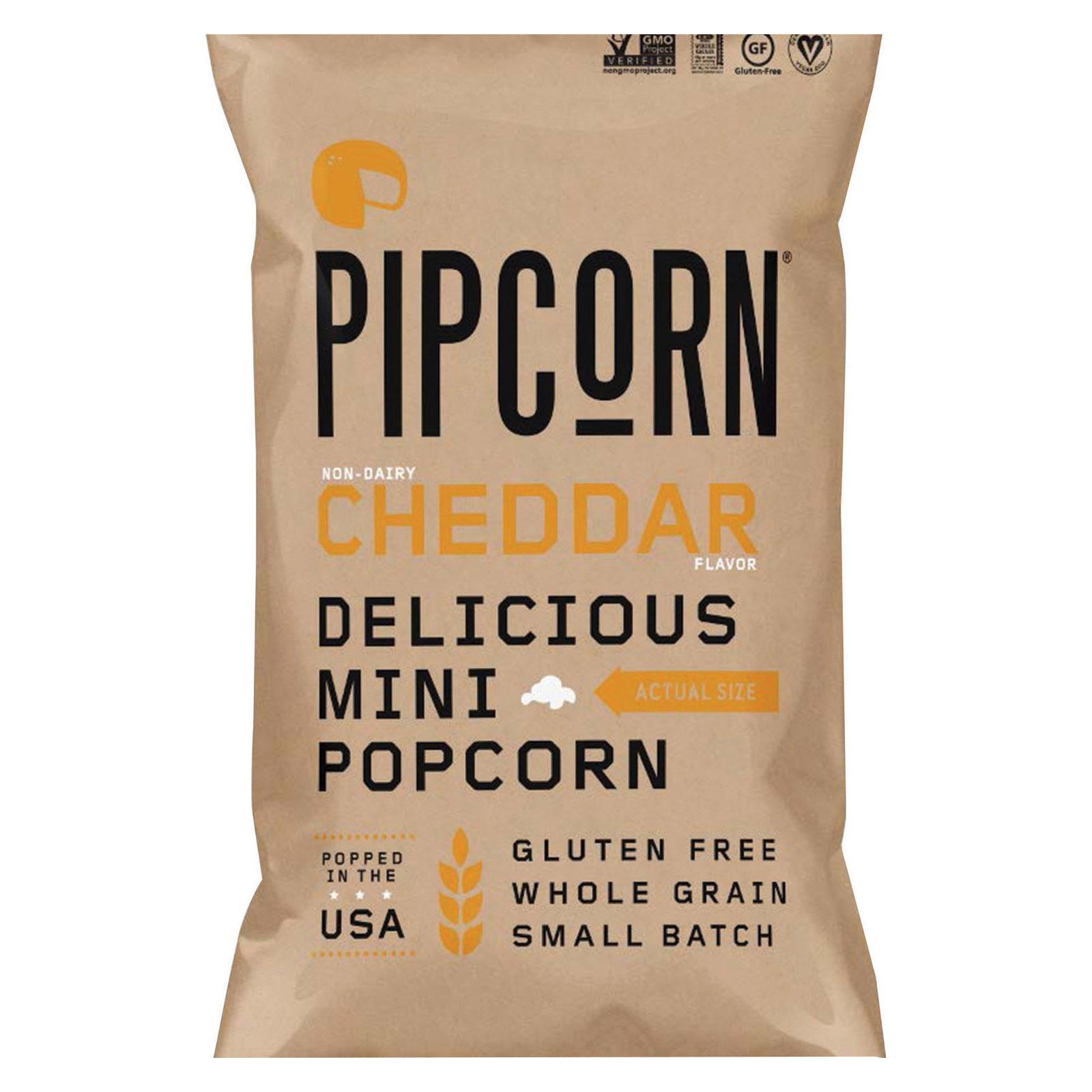 Pipcorn Mini Popcorn - Cheddar - Case of 12 - 4 oz