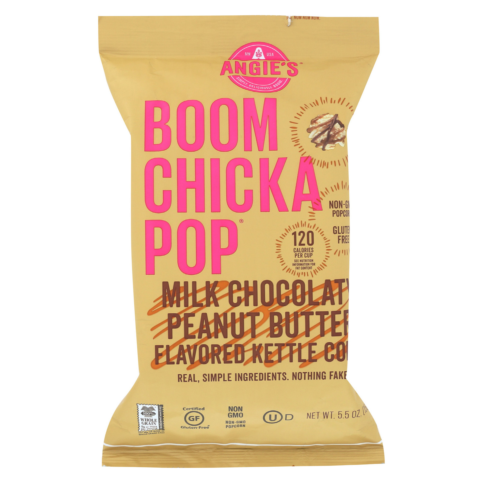 Angie's Kettle Corn Popcorn - Boom Chicka Pop - Chocolate - Peanut - Case of 12 - 5.5 oz