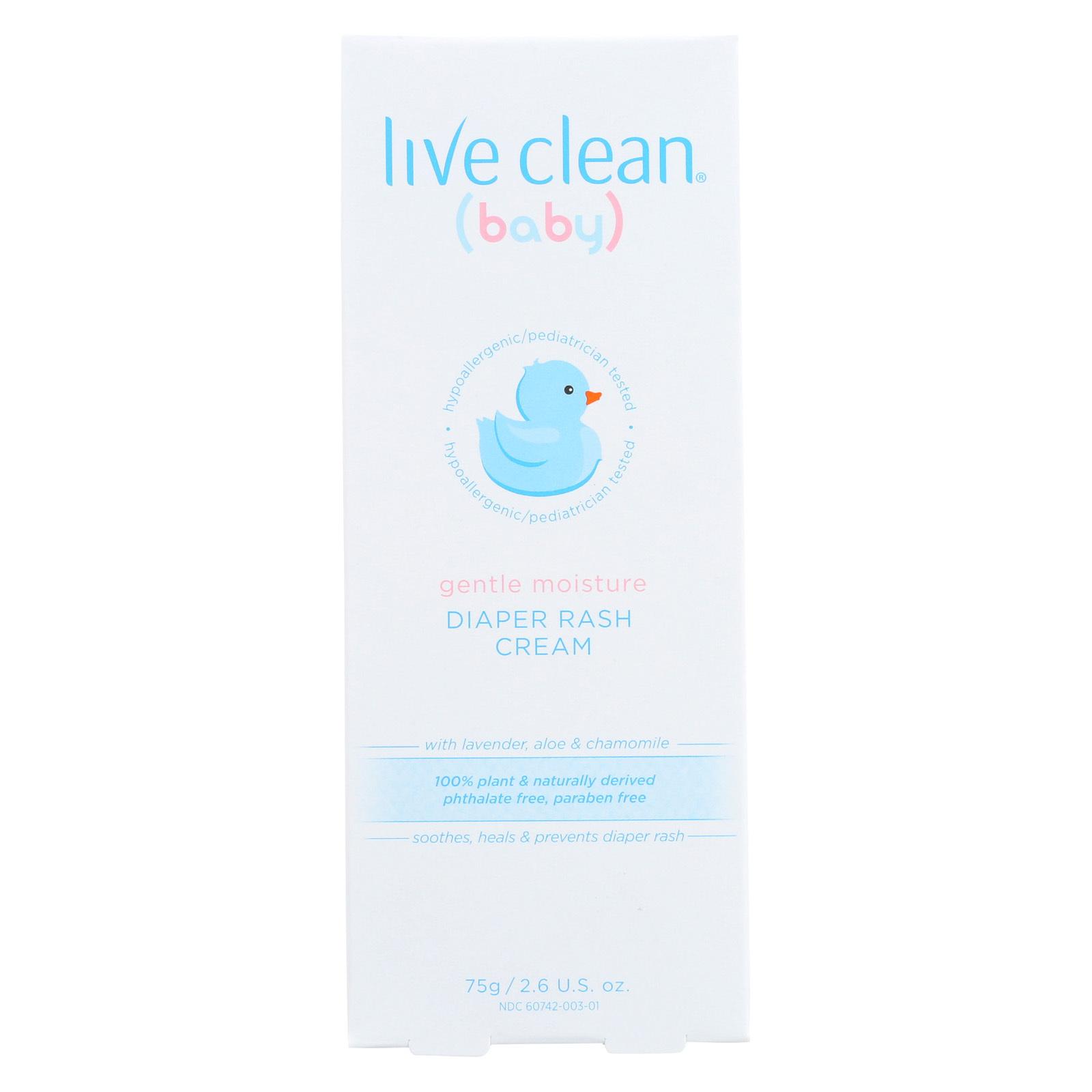 Live Clean Cream - Diaper Rash - Gentle - 2.6 oz
