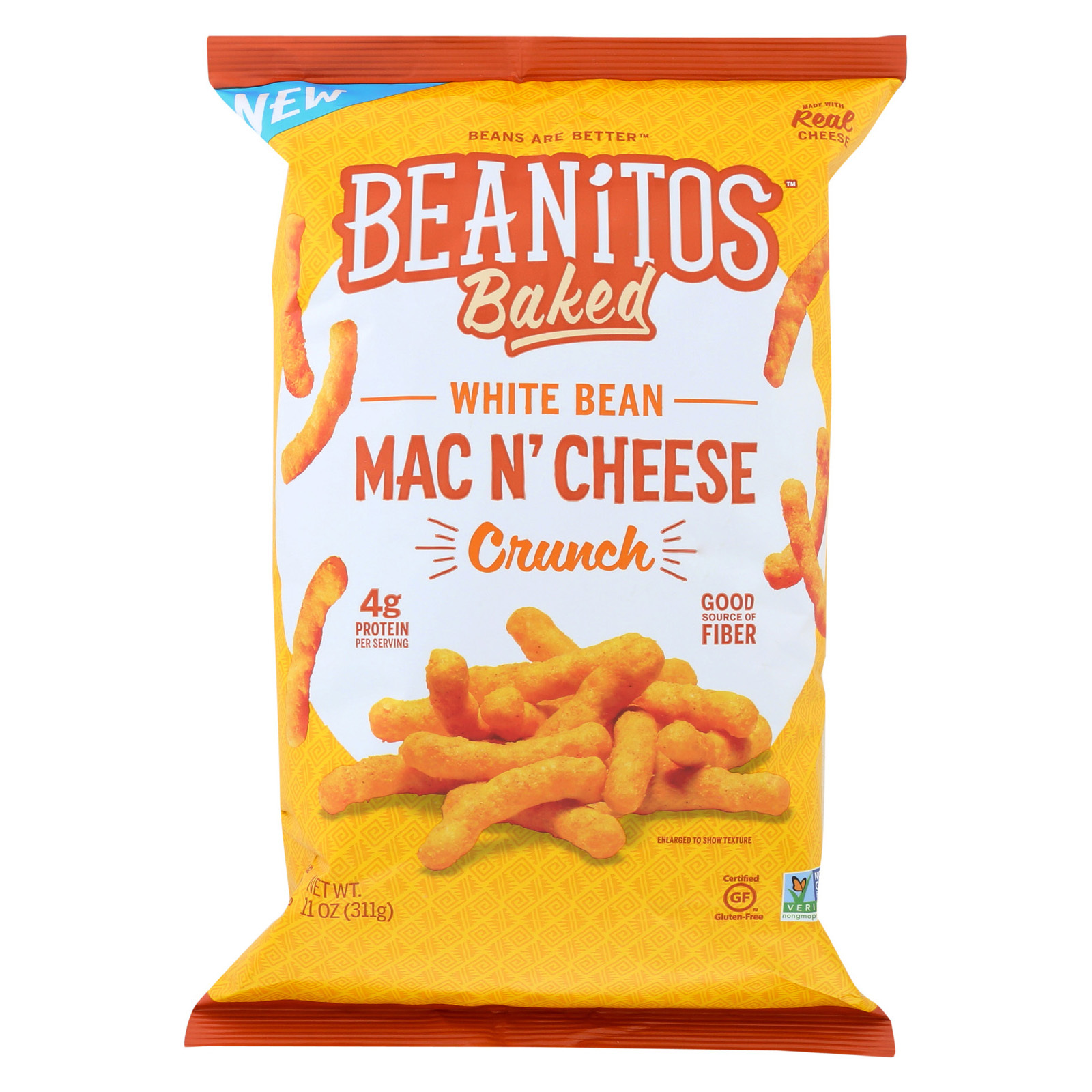 Beanitos Crunch - Baked - Mac - Cheese - Case of 6 - 11 oz