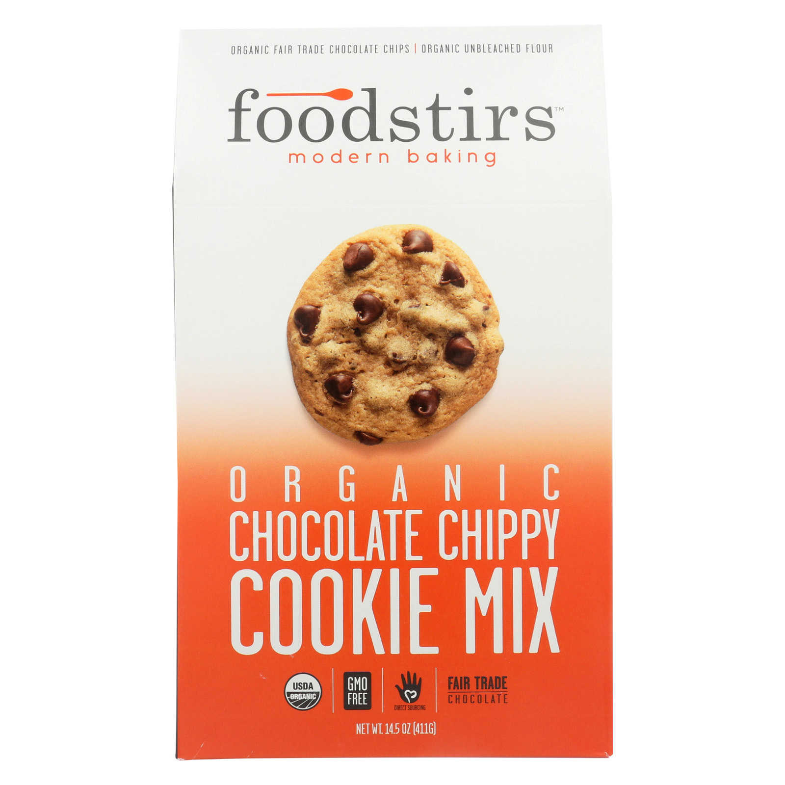 Foodstirs Organic Baking Mix - Chocolate Chippy - Case of 6 - 14.5 oz