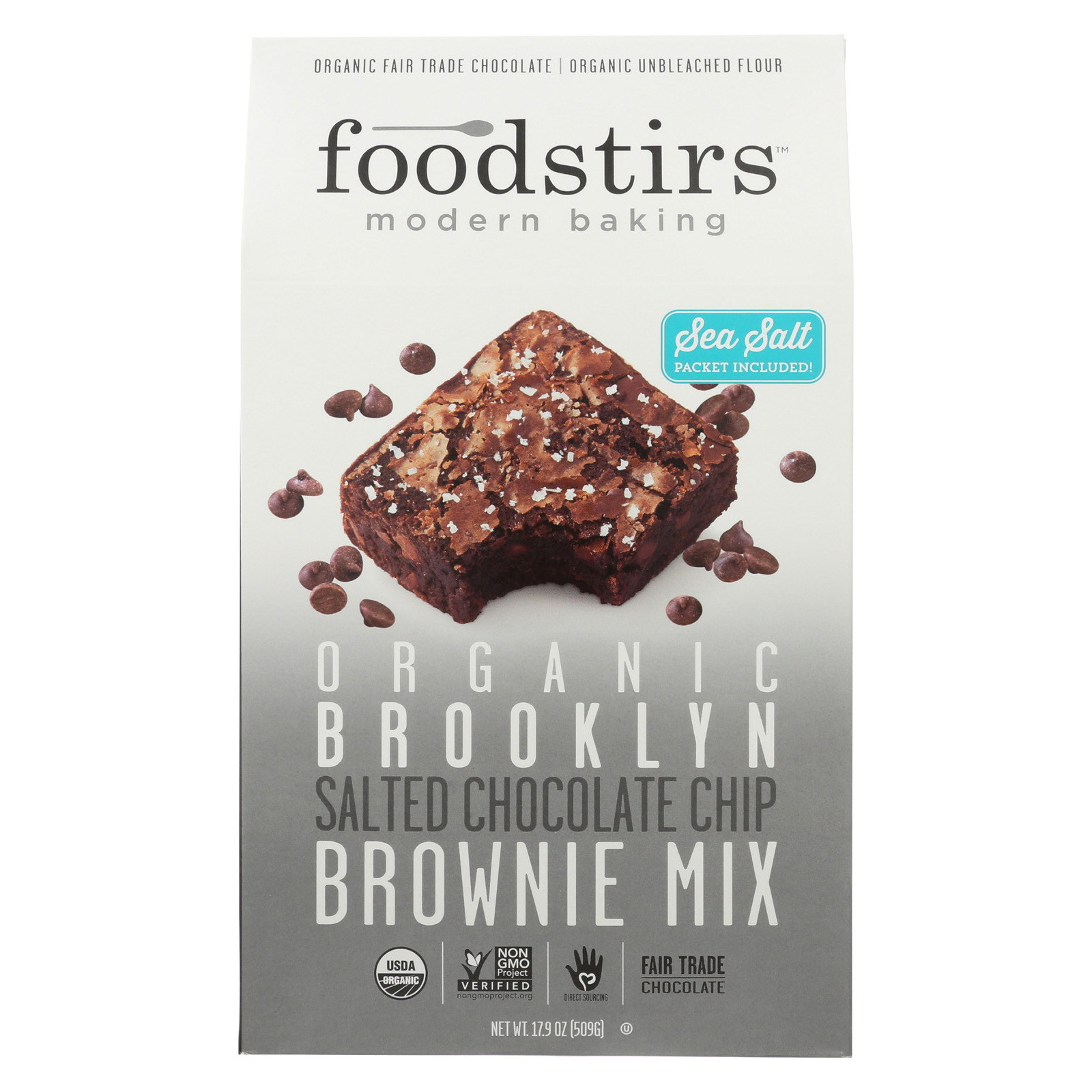 Foodstirs Organic Baking Mix - Brooklyn Brownie - Case of 6 - 17.9 oz