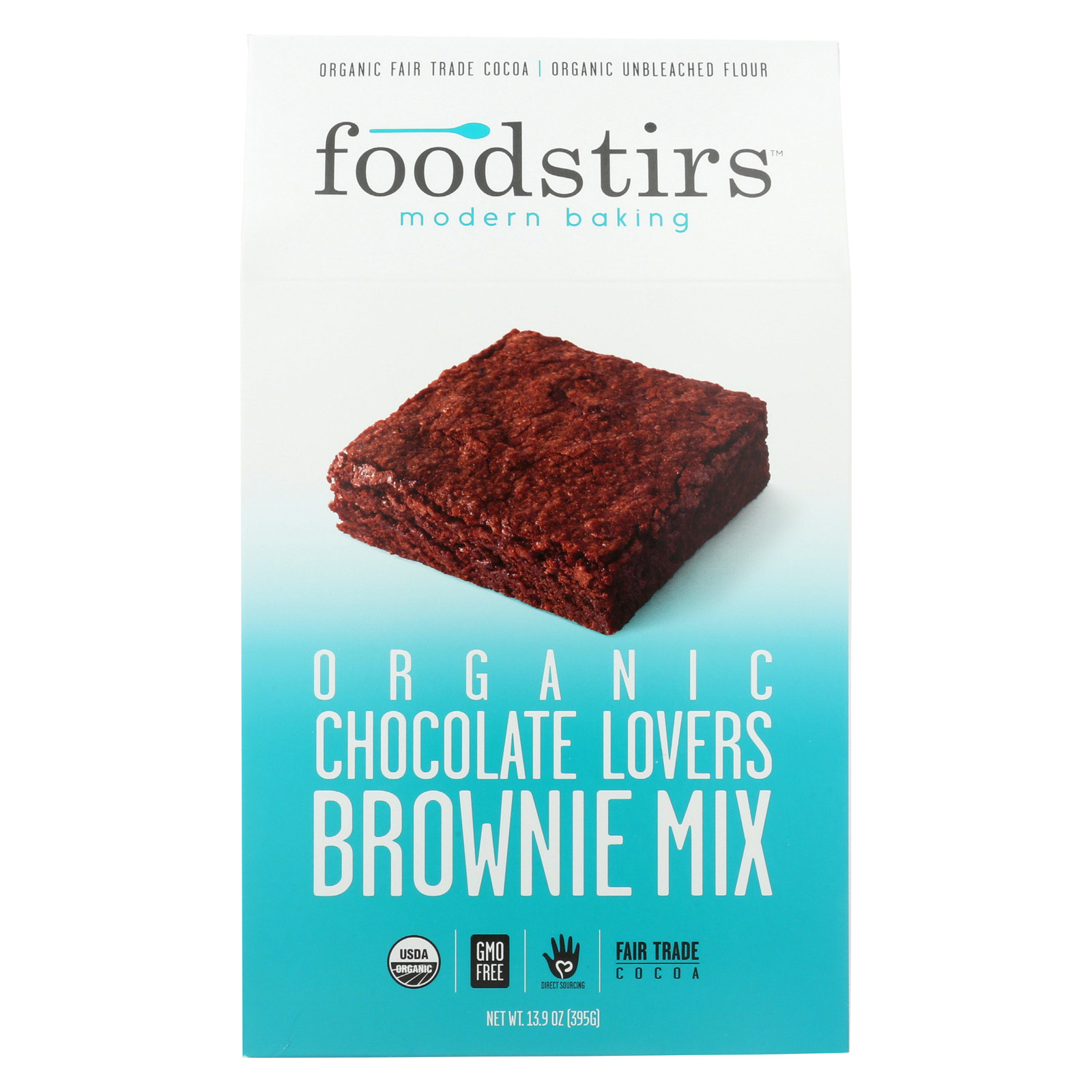 Foodstirs Organic Baking Mix - Chocolate Brownie Love - Case of 6 - 13.9 oz