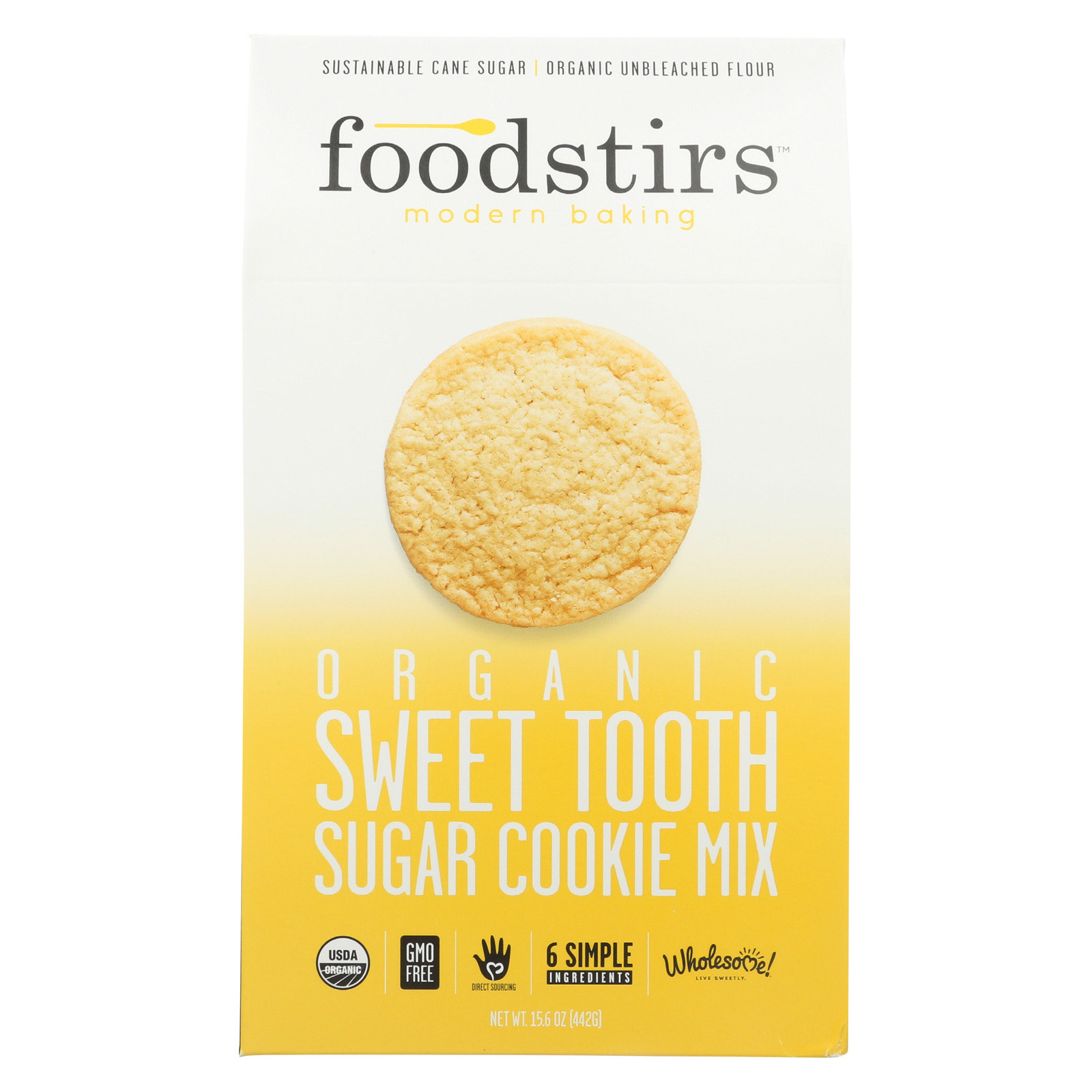 Foodstirs Organic Baking Mix - Sweet Tooth Sugar Cookie - Case of 6 - 15.6 oz