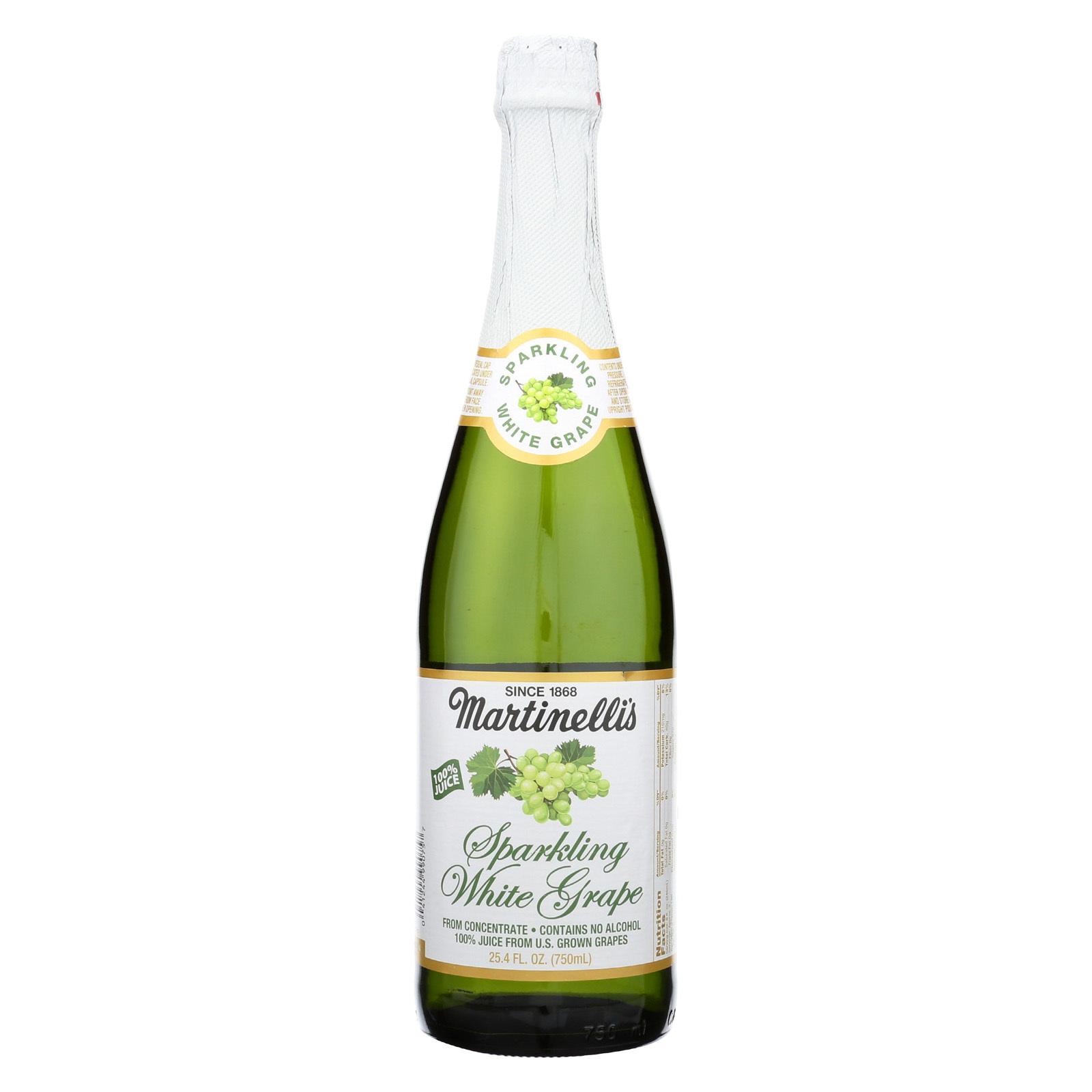 Martinelli's Sparkling Cider - White Grape - Case of 12 - 25.4 fl oz