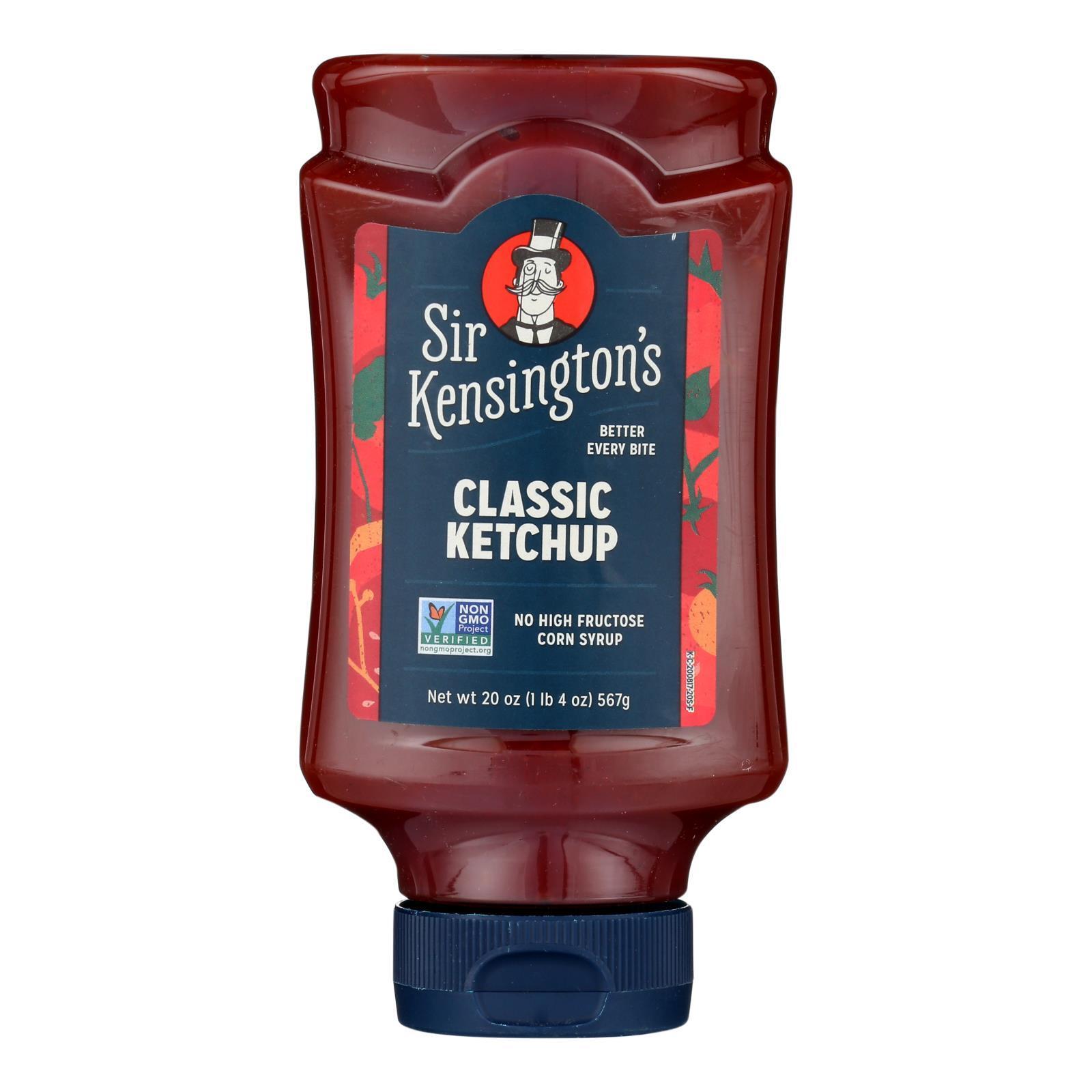 Sir Kensington's Ketchup - Squeeze Bottle - Case of 6 - 20 oz