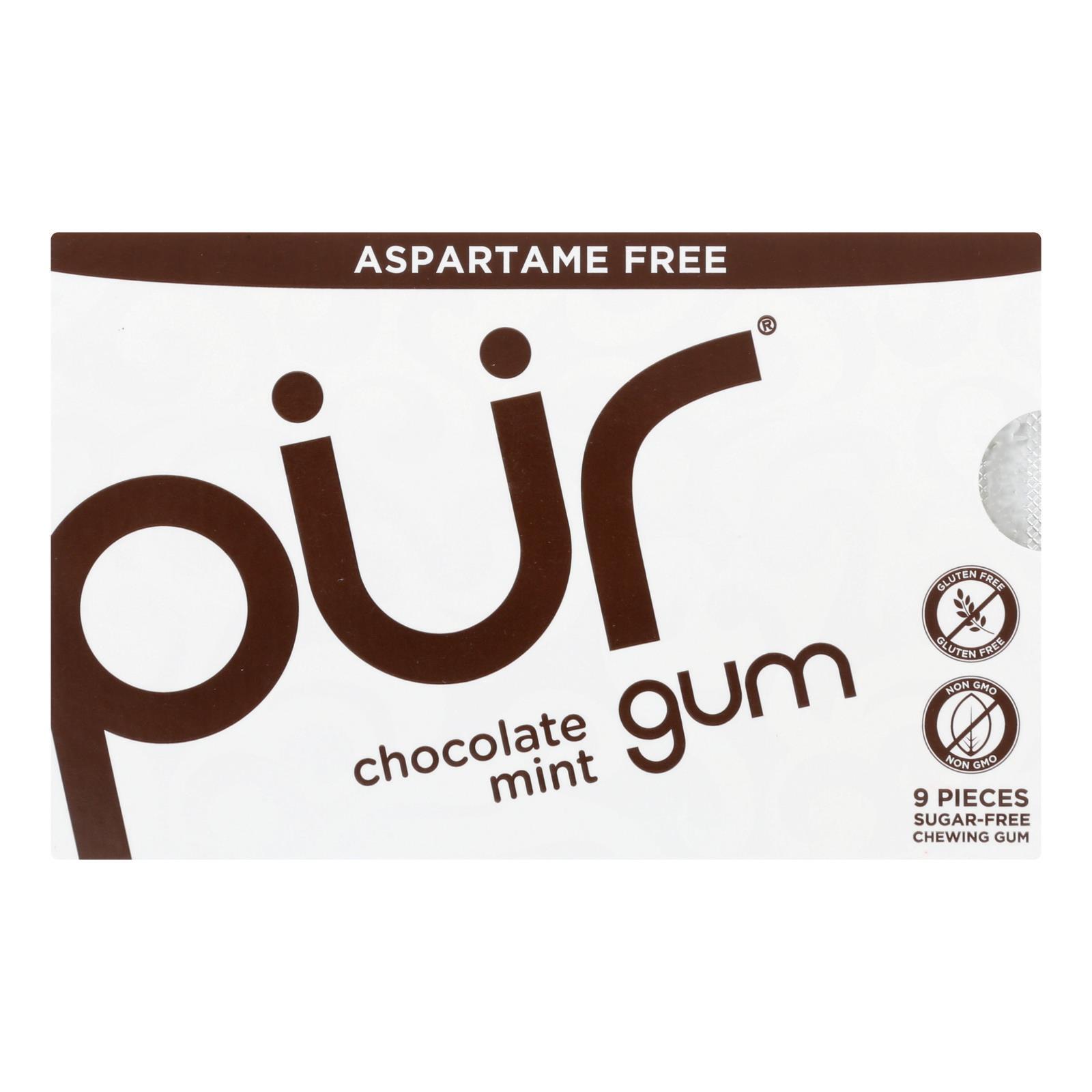 Pur Gum Gum - Chocolate Mint - Case of 12 - 9 count