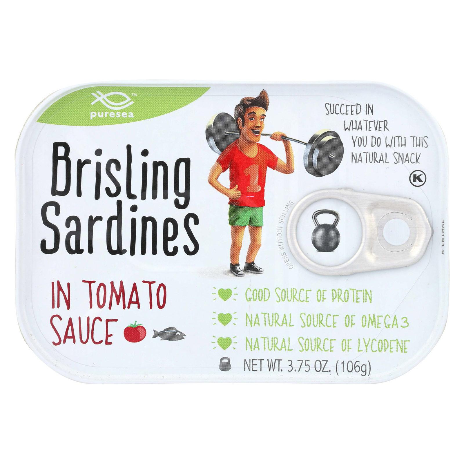 Pure Sea Sardines - Brisling - Tom Sce - Case of 12 - 3.75 oz