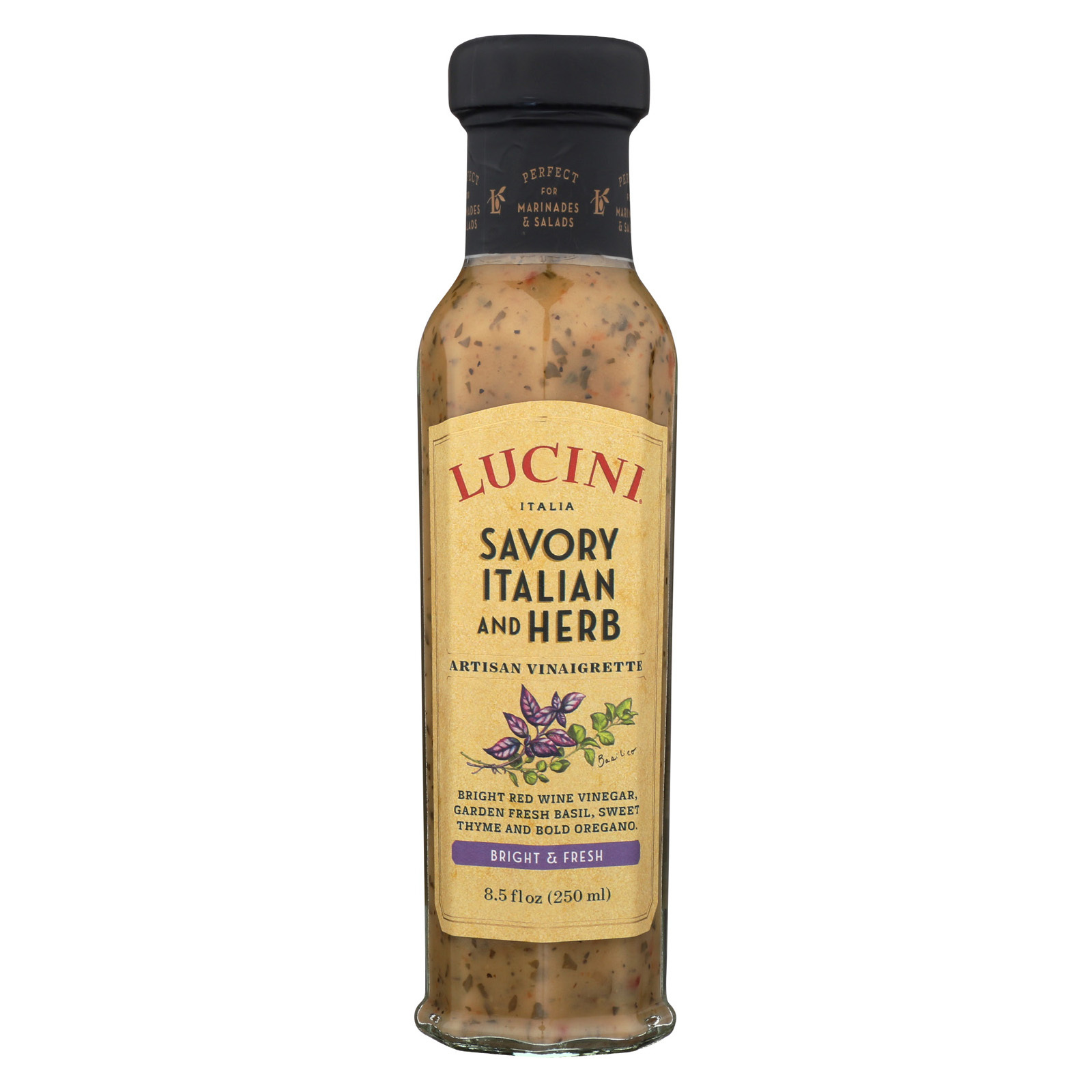 Lucini Italia Artisan Vinaigrette - Savory Italian - Case of 6 - 8.5 fl oz
