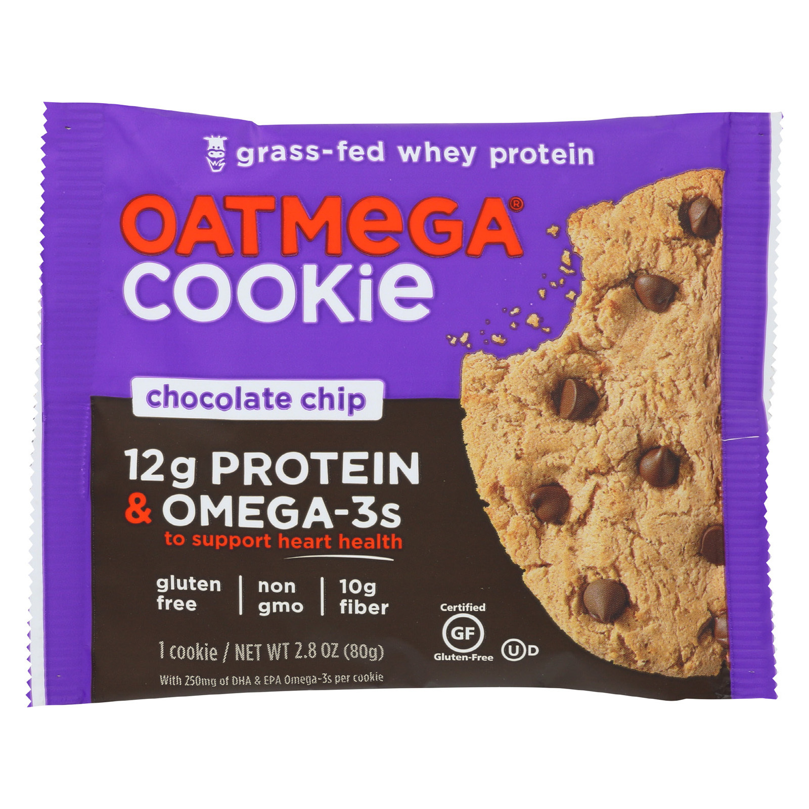 Oatmegabar Cookie - Chocolate Chip - Case of 12 - 2.8 oz