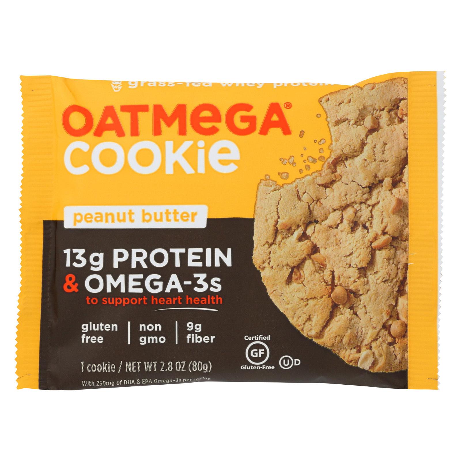 Oatmegabar Cookie - Peanut Butter - Case of 12 - 2.8 oz