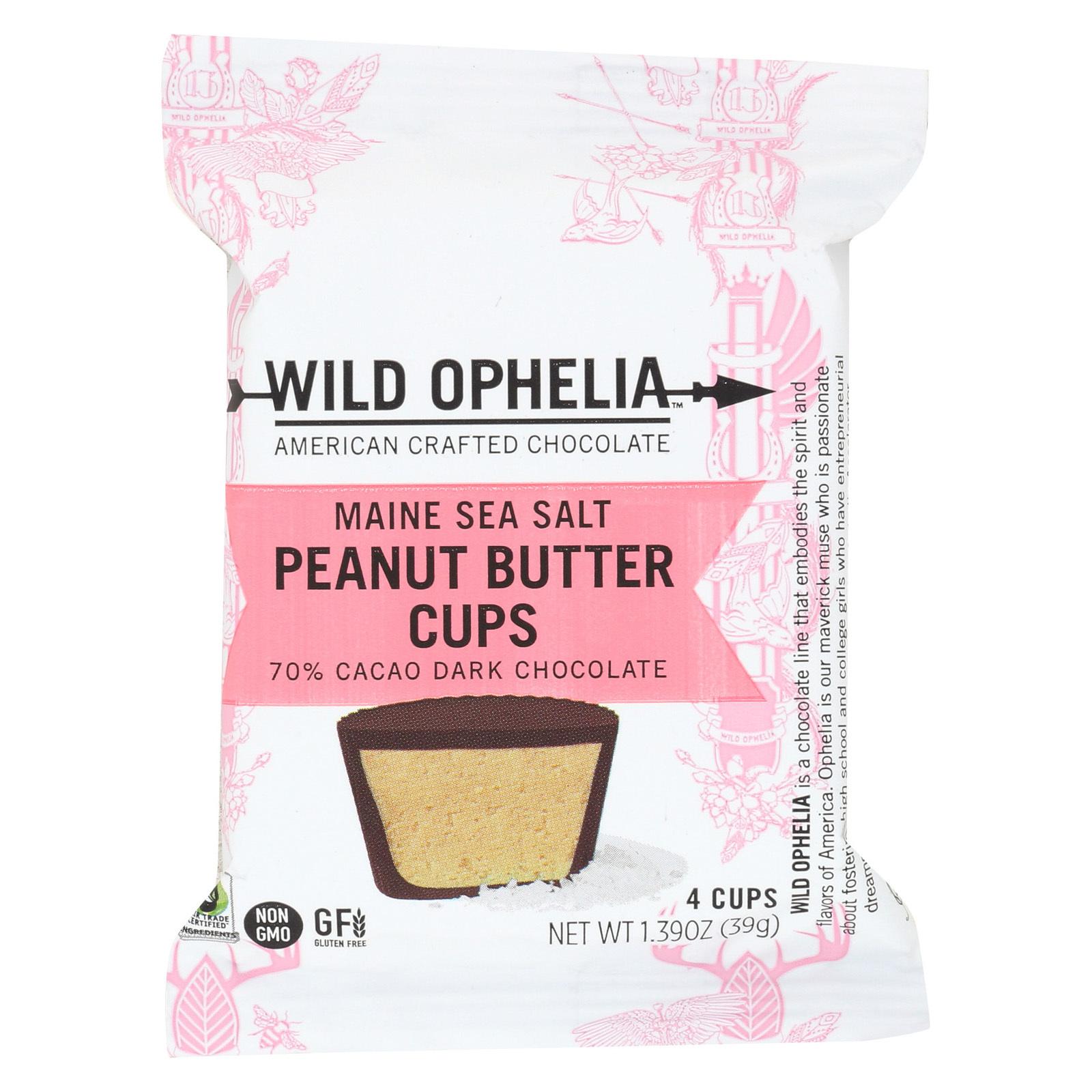 Wild Ophelia Peanut Butter Cup - Maine SeaSalt - Case of 12 - 1.37 oz