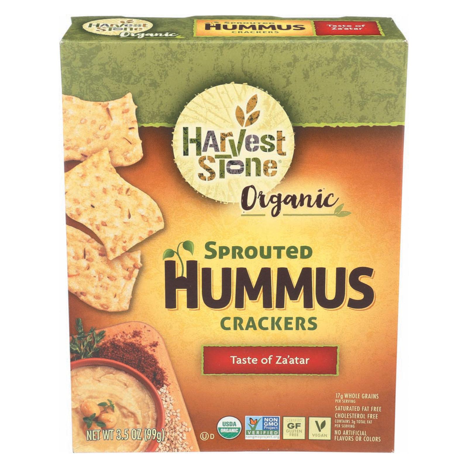 Harvest Stone Organic Hummus Crackers - Taste of Za'Atar - Case of 6 - 3.5 oz