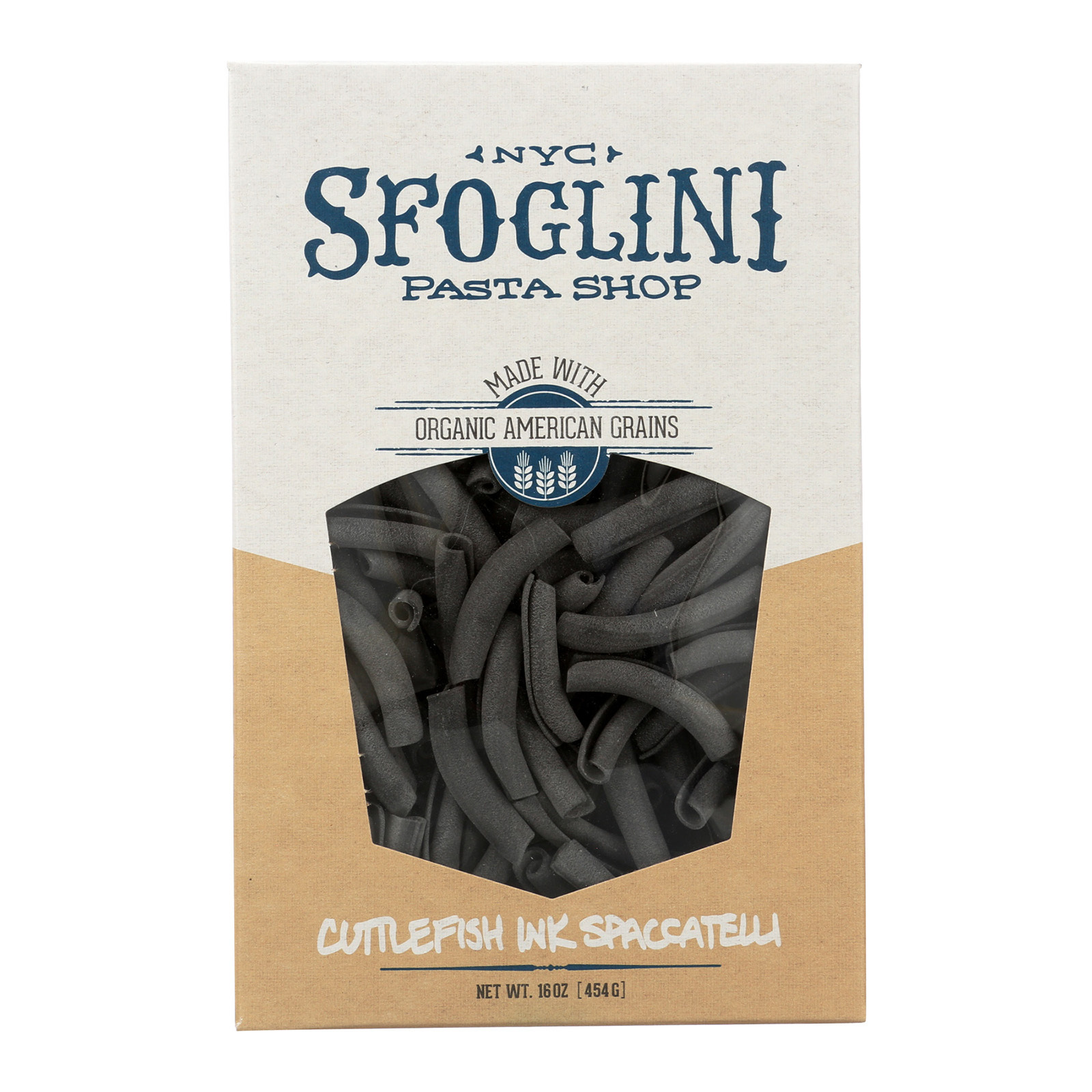 Sfoglini Cuttlefish Ink Spaccatelli - Case of 6 - 16 oz.