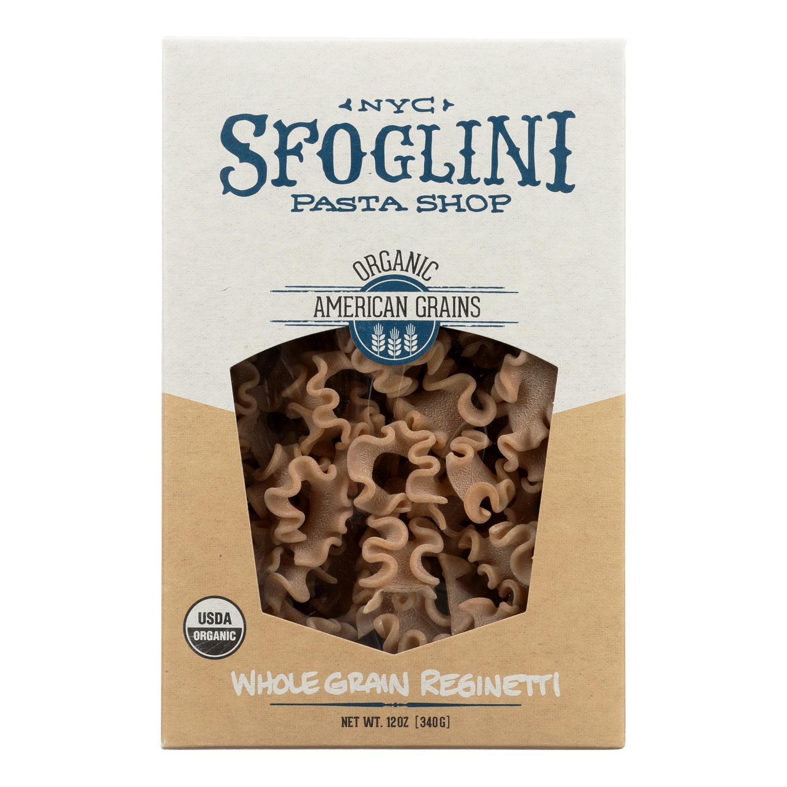Sfoglini Whole Grain Blend Reginetti - Case of 6 - 12 oz.