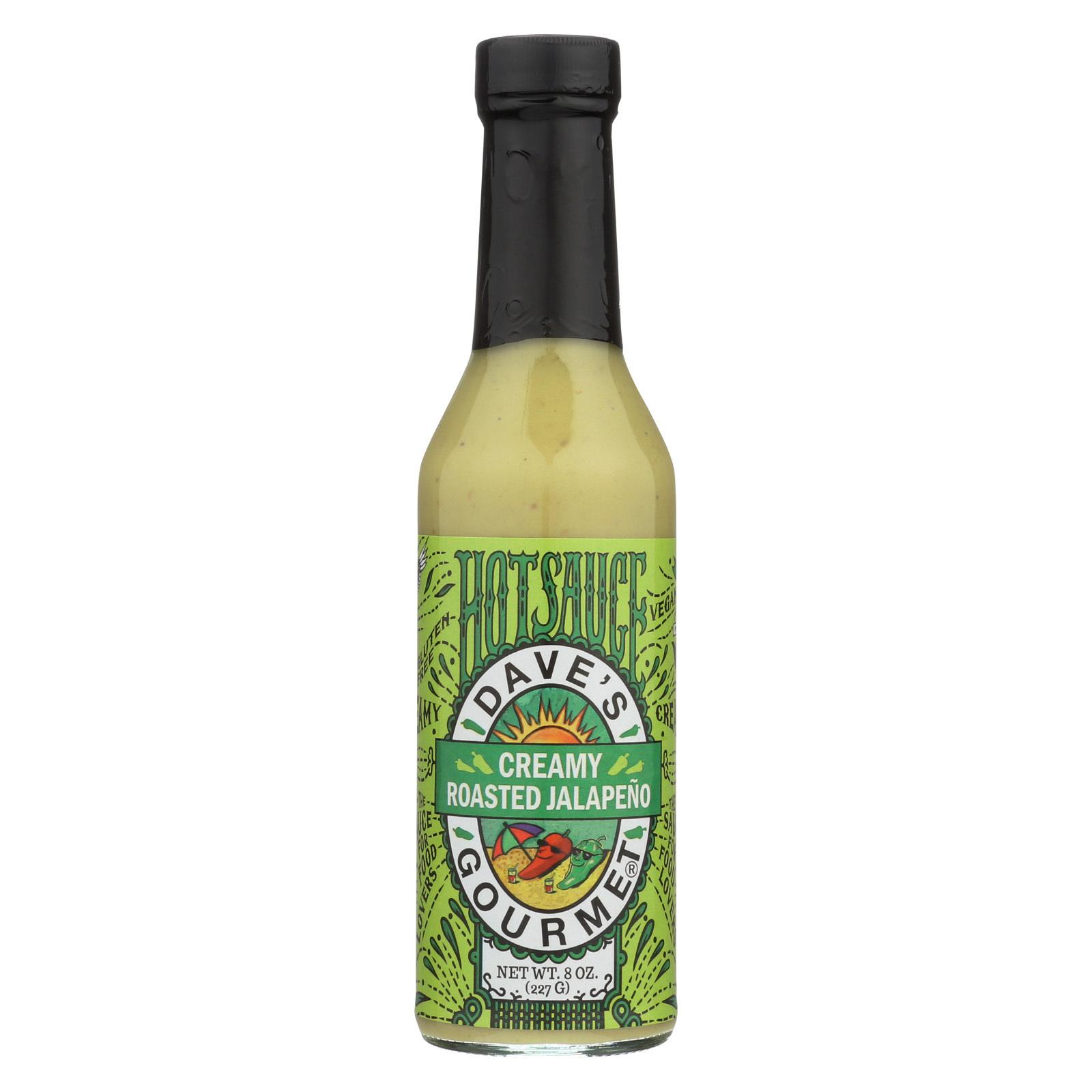 Dave's Gourmet Hot Sauce - Creamy Roasted Jalapeno - Case of 6 - 8 fl oz