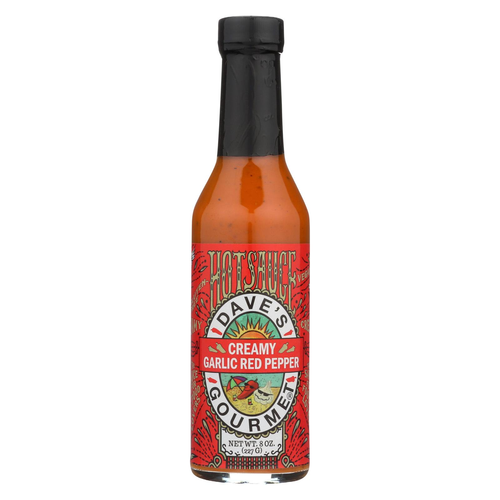 Dave's Gourmet Hot Sauce - Creamy Garlic Red Pepper - Case of 6 - 8 fl oz