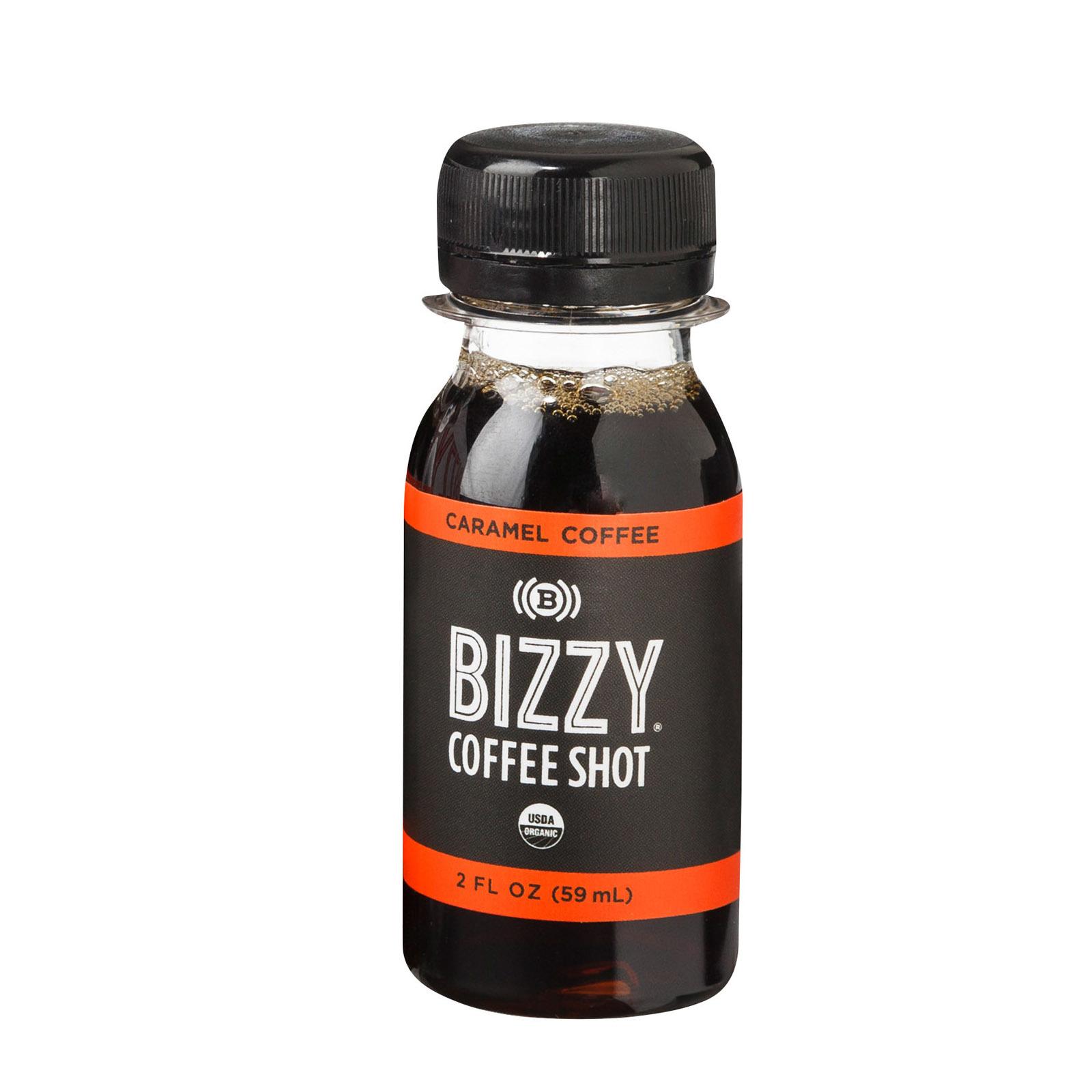 Bizzy Coffee Shot - Organic - Caramel - Case of 6 - 2 fl oz