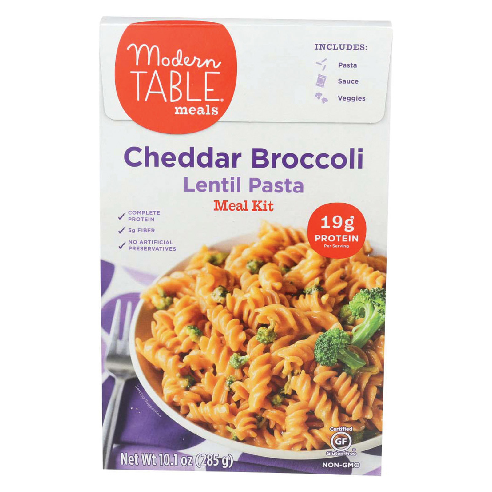 Modern Table Lentil Pasta - Meal Kit - Cheddar - Broccoli - Case of 6 - 10.1 oz
