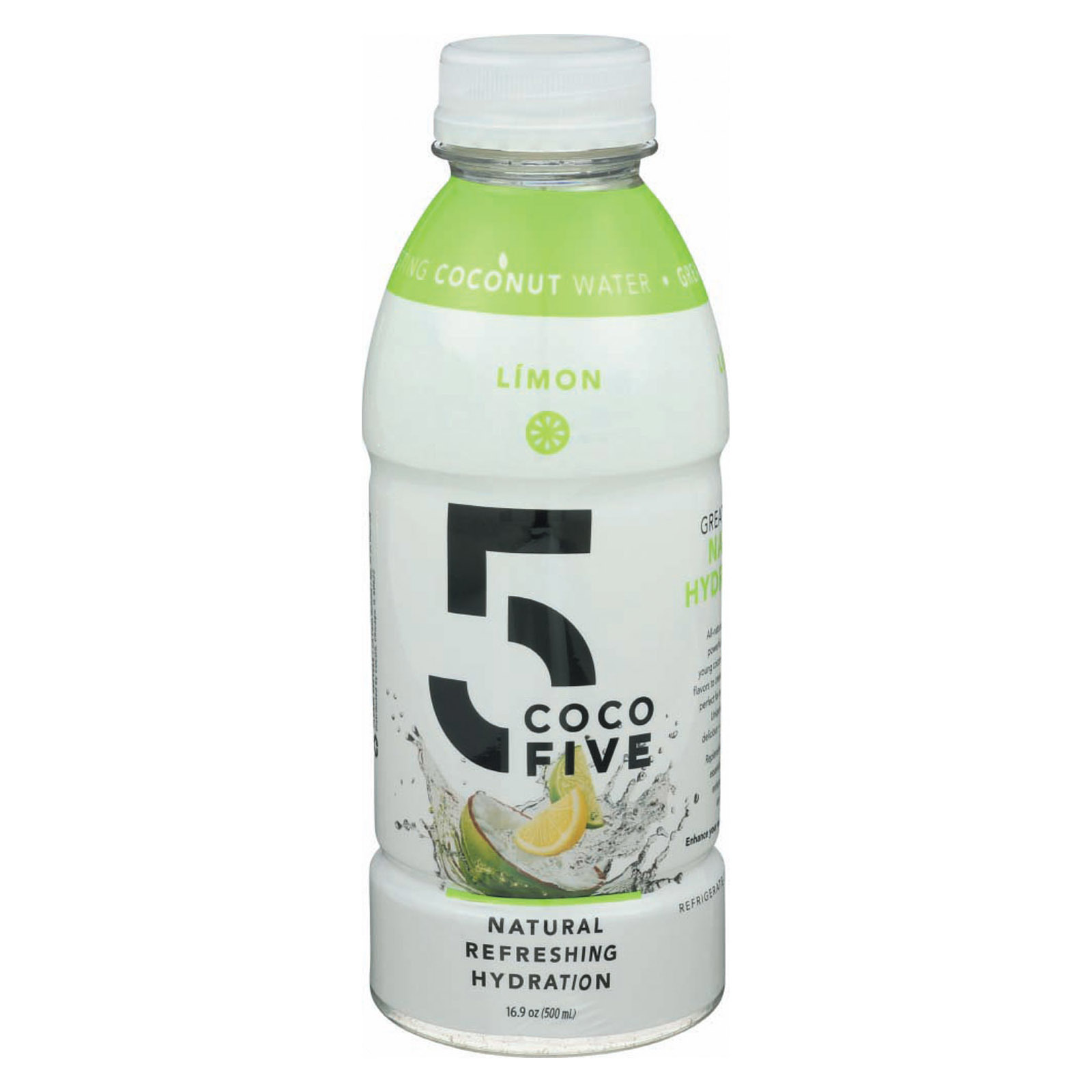 Coco5 Coconut Water - Limon - Case of 12 - 16.9 fl oz