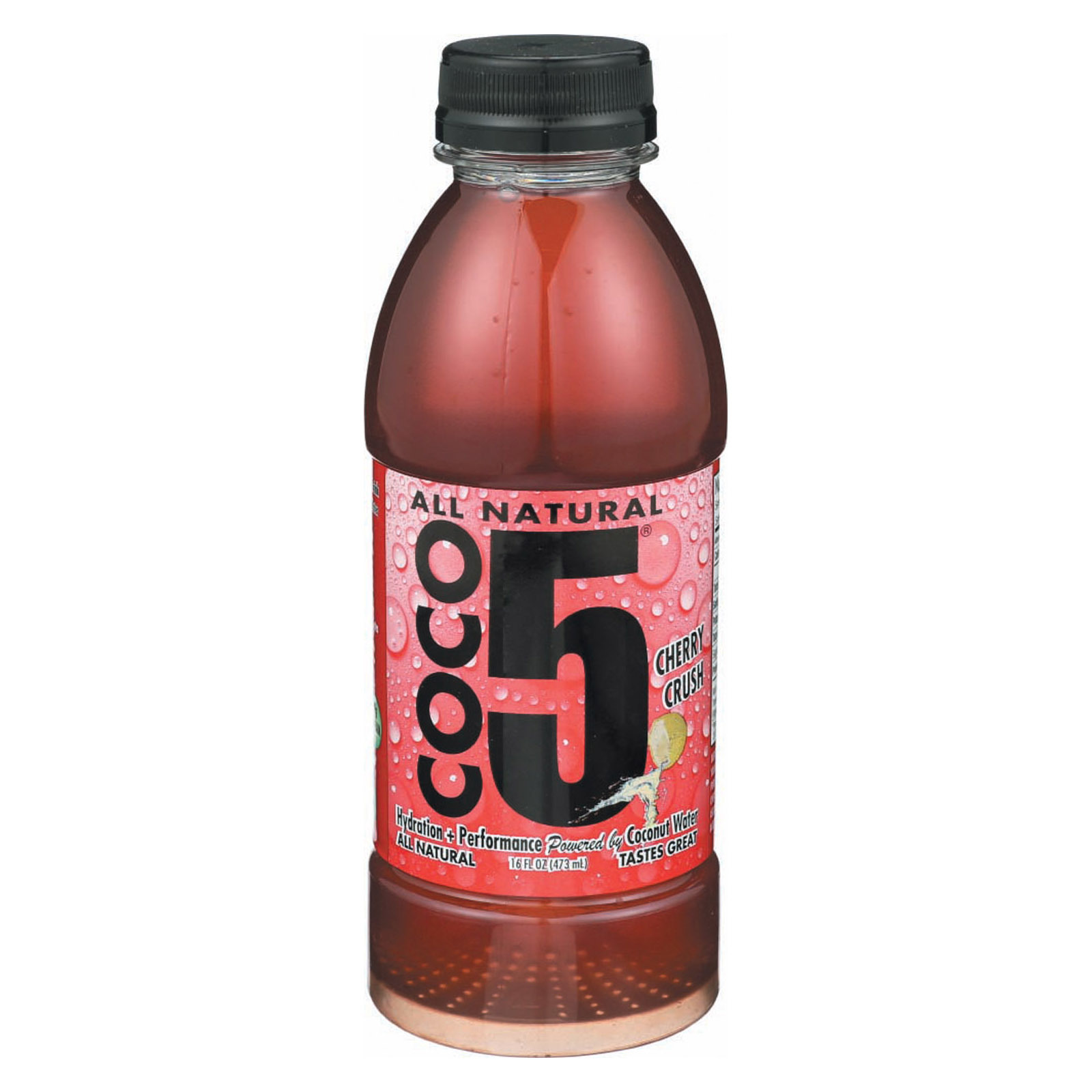 Coco5 Coconut Water - Cherry - Case of 12 - 16.9 fl oz