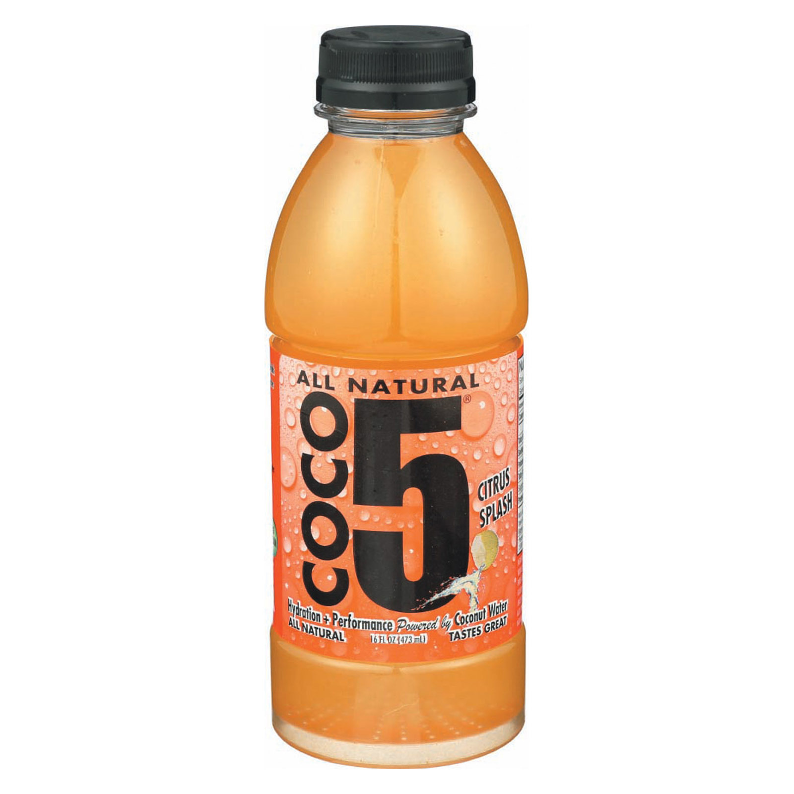 Coco5 Coconut Water - Orange - Case of 12 - 16.9 fl oz