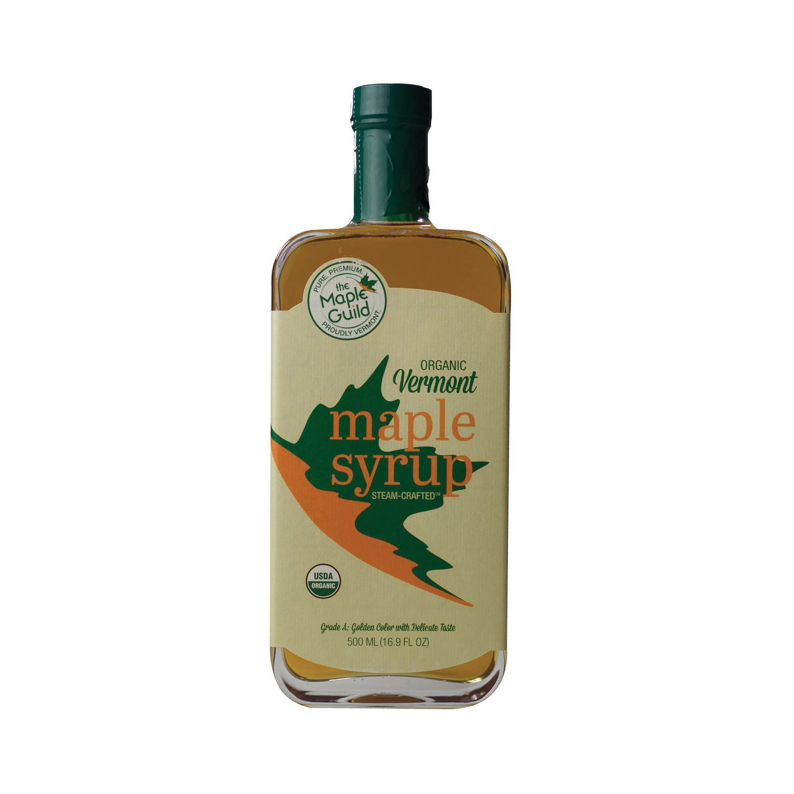 The Maple Guild Organic Syrup - Vermont Maple - Case of 6 - 500 ML
