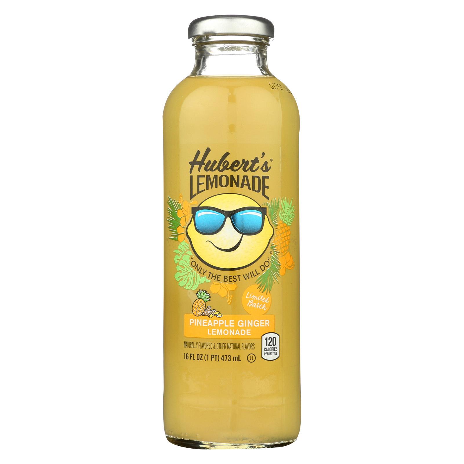 Hubert's Lemonade Pineapple Ginger, 16 fl oz