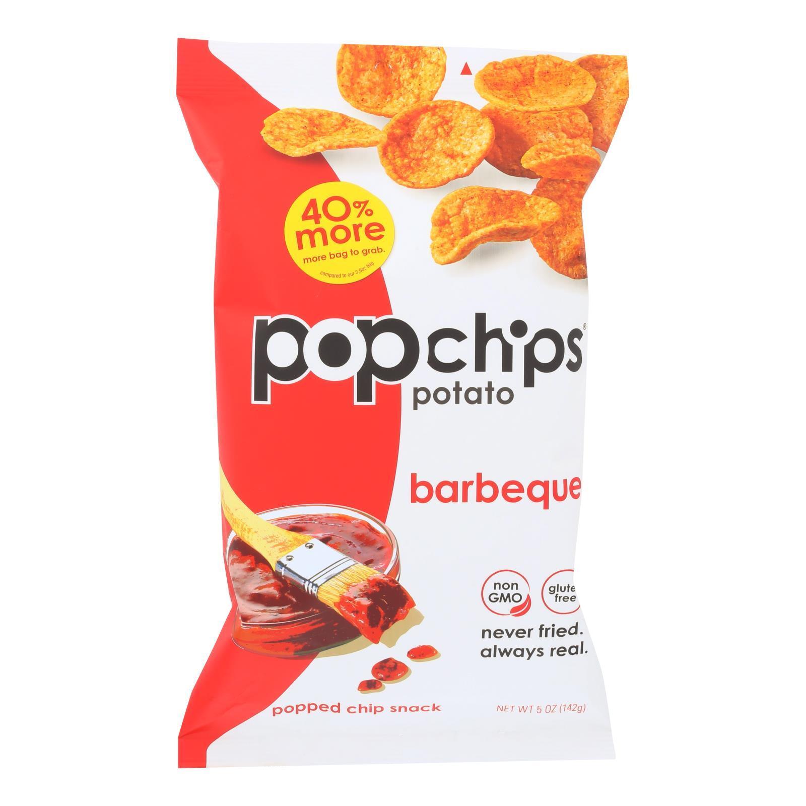 Popchips Potato Chip - BBQ - Case of 12 - 5 oz