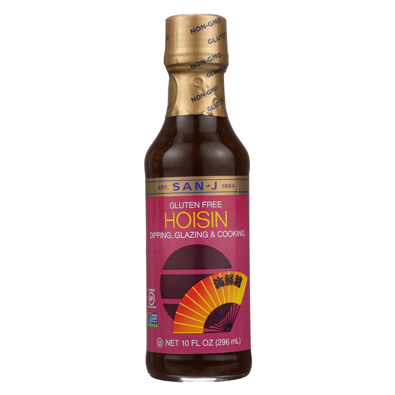 San-J Sauce - Hoisin - Gluten Free - Case of 6 - 10 fl oz