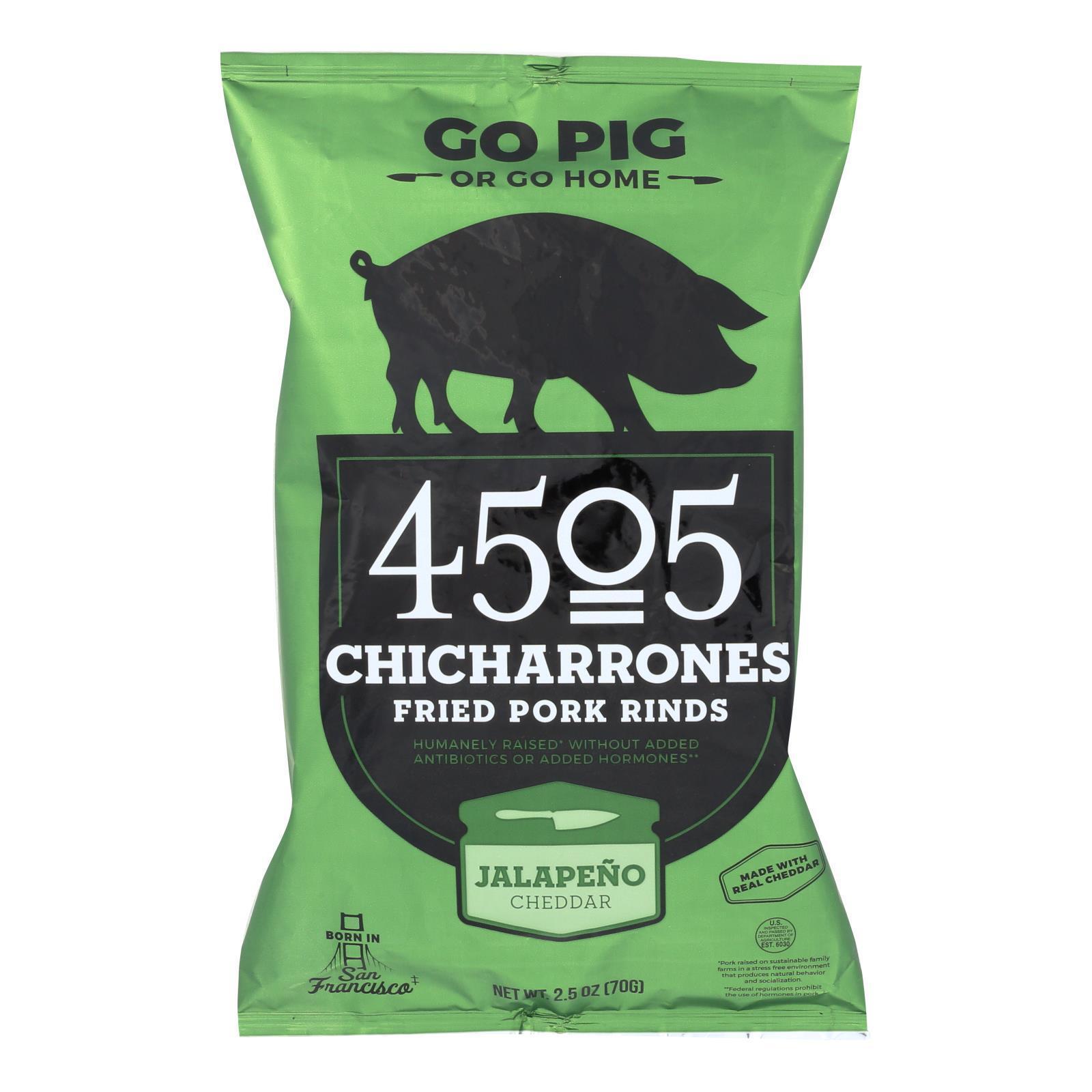 4505 Pork Rinds - Chicharones - Jalapeno Cheddar - Case of 12 - 2.5 oz