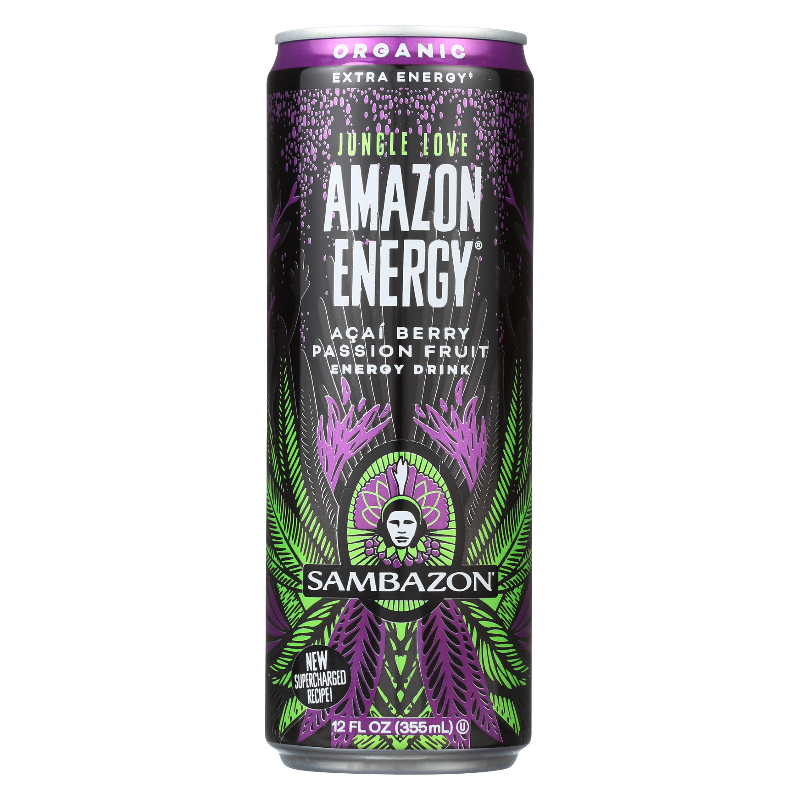 Sambazon Organic Amazon Energy Drink - Jungle Love - Case of 12 - 12 fl oz