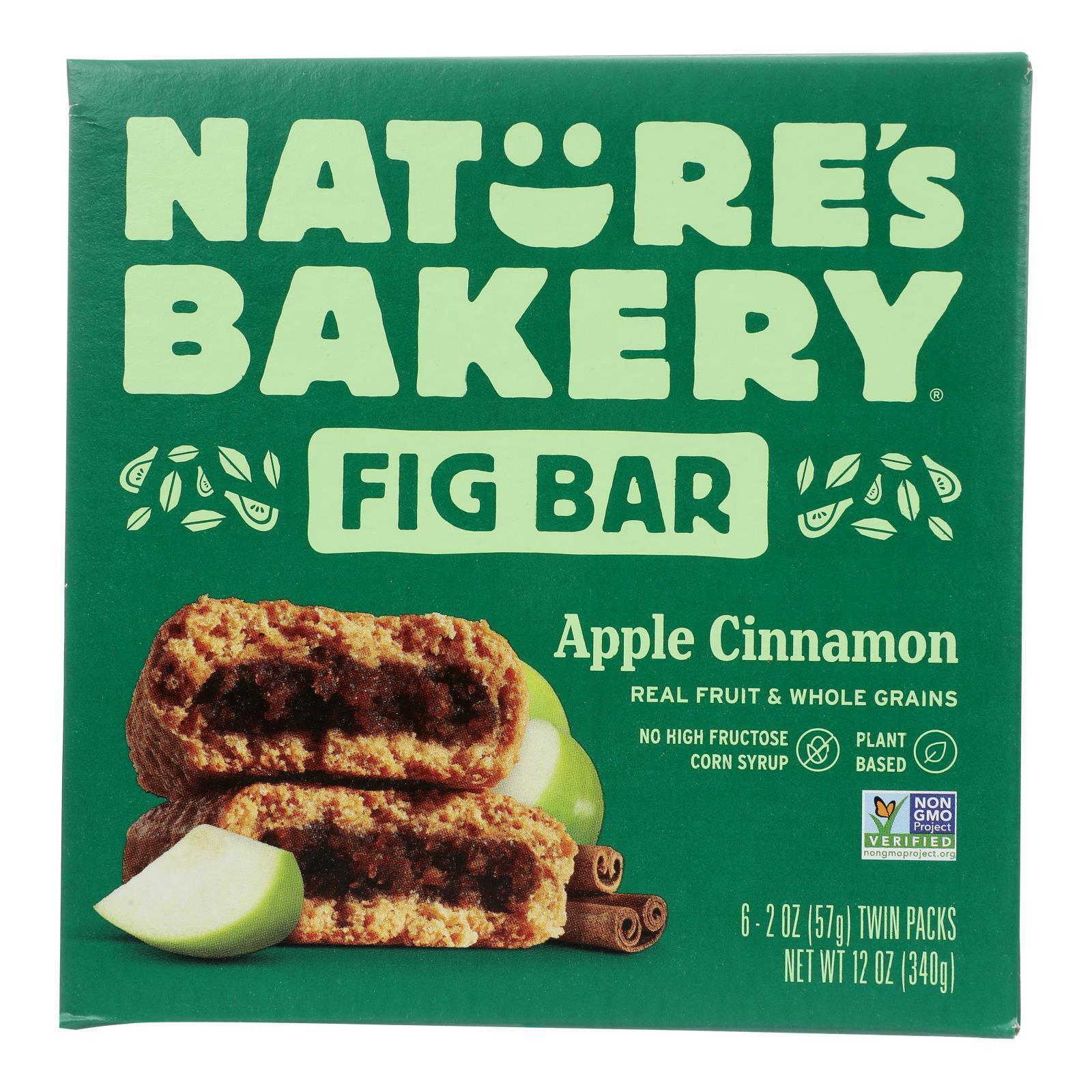 Nature's Bakery Stone Ground Whole Wheat Fig Bar - Apple Cinnamon - Case of 6 - 2 oz.
