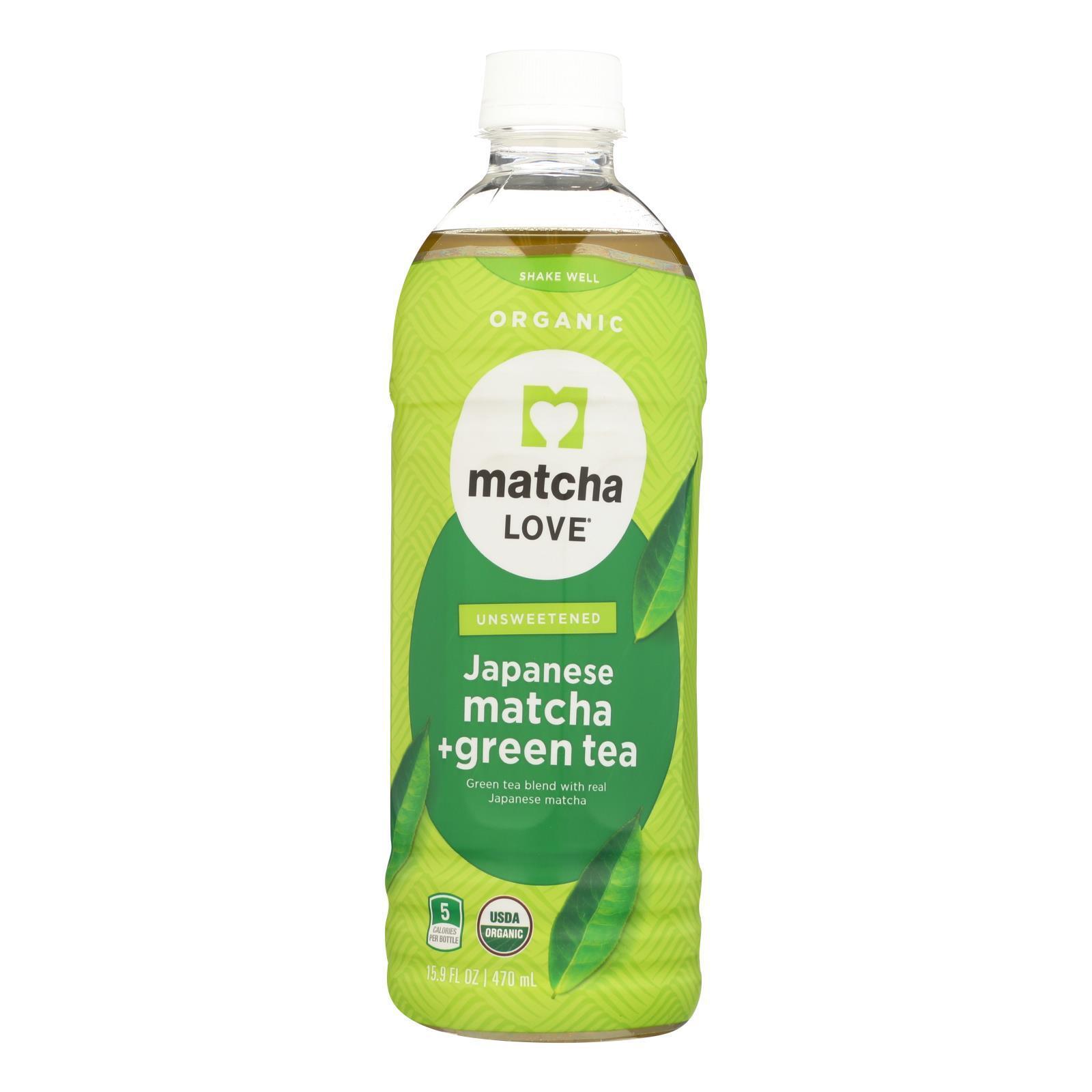 Matcha Love Drnk - Organic - Matcha Green Tea - Case of 12 - 15.9 fl oz