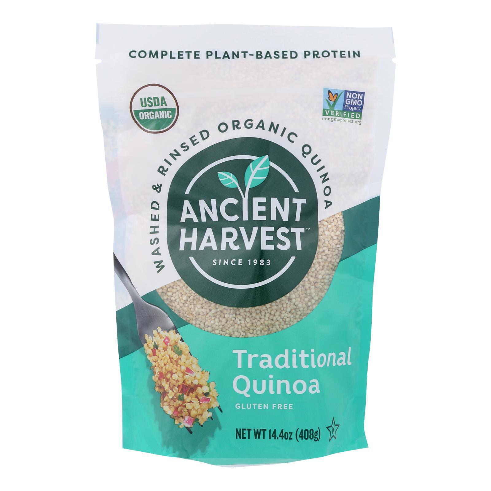 Ancient Harvest Quinoa - Organic - Traditional - Whole Grain - Gluten Free - Case of 12 - 14.4 oz